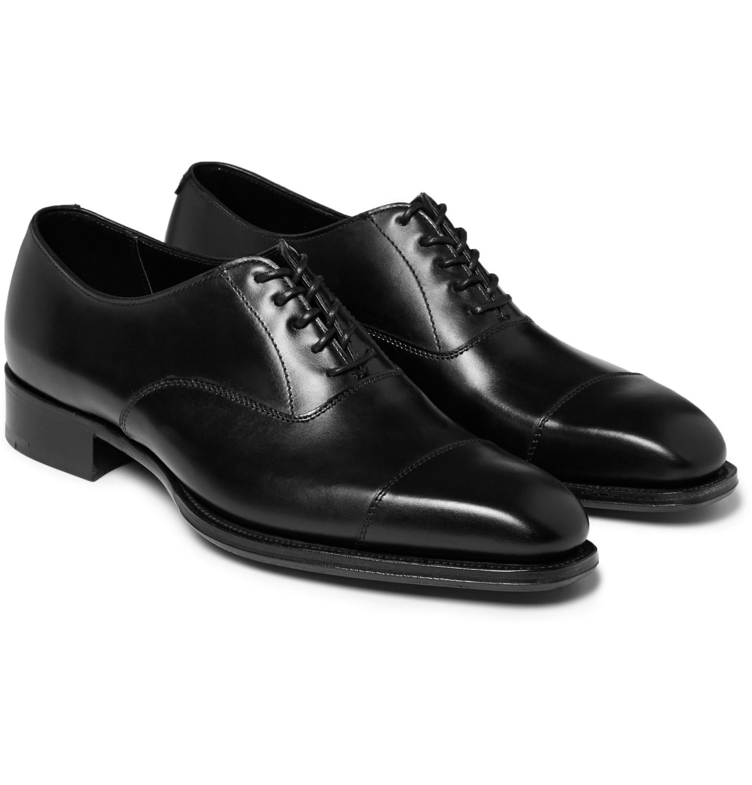 discount great deals wiki Kingsman + George Cleverley Patent-Leather Oxford Shoes wiki cheap price for sale top quality lowest price sale online 3ipnjlL6