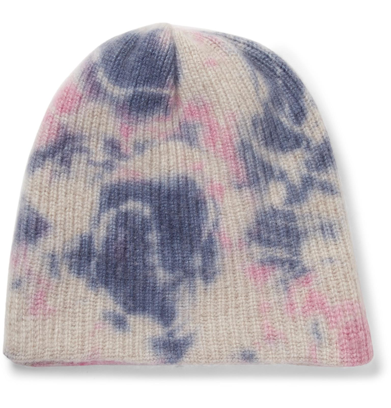 pink cashmere ribbed knit beanie The Elder Statesman 91cWDG