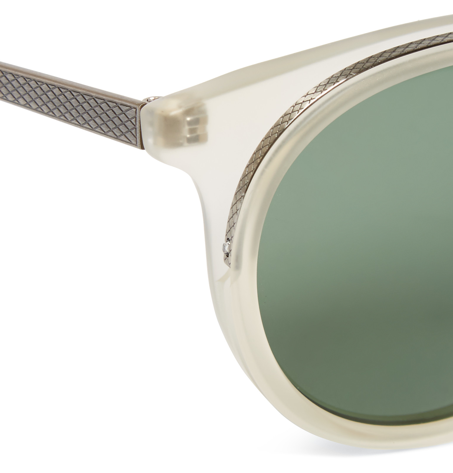 Barton Perreira Meyer Round-frame Acetate Polarised Sunglasses in Silver (Metallic) for Men