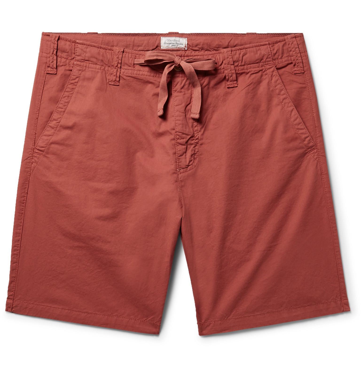 Slim-fit Cotton-twill Drawstring Shorts Hartford aB0jS