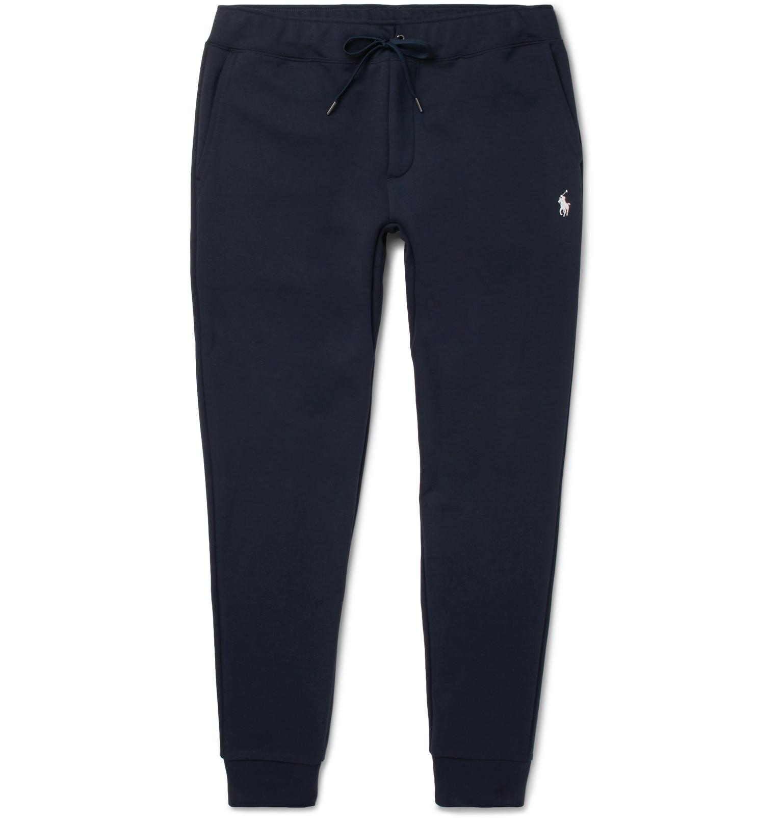 af6e49972c84 Polo Ralph Lauren Slim-fit Tapered Jersey Sweatpants in Blue for Men ...