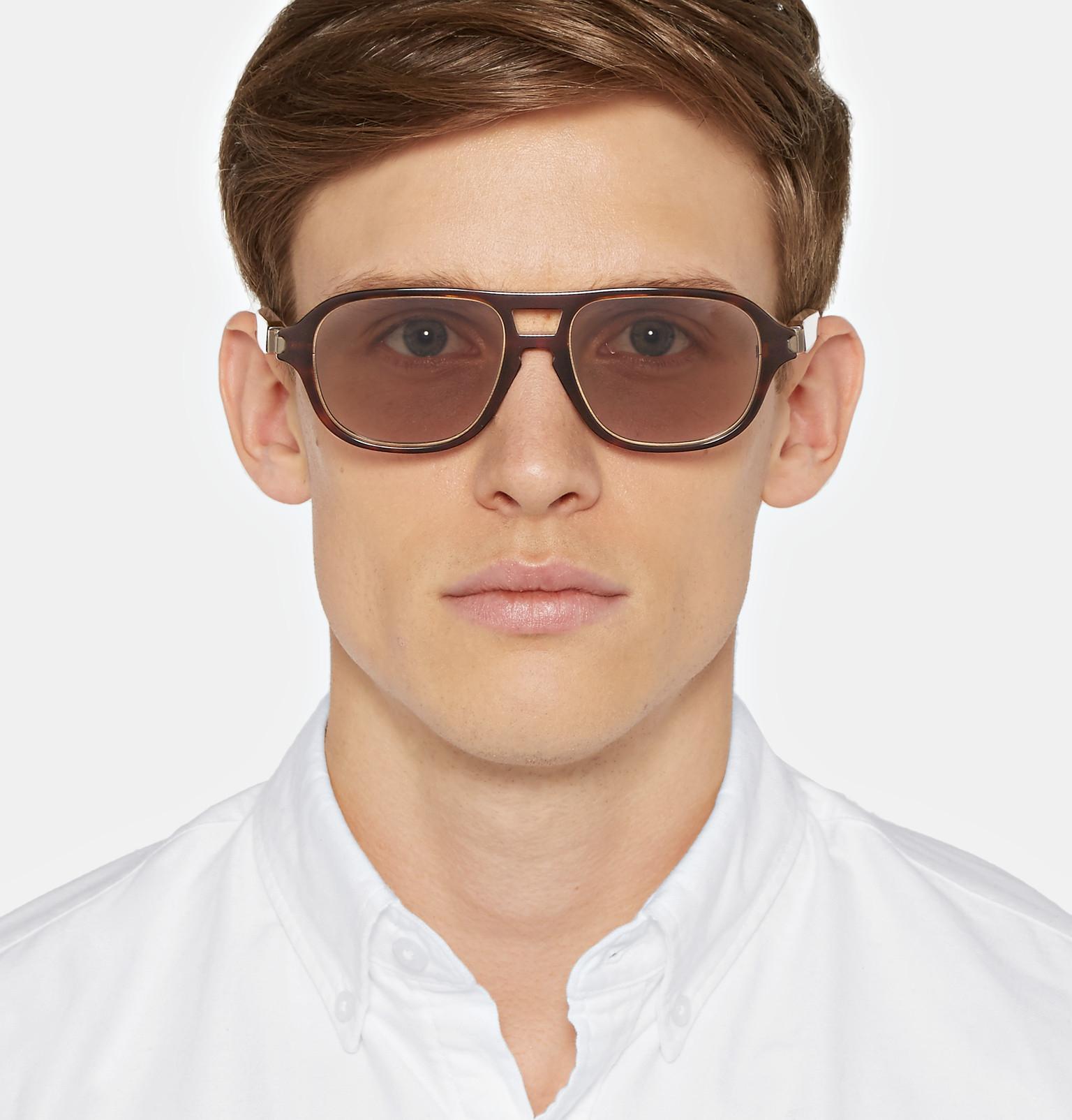 Brioni Square Frame Acetate Sunglasses In Black For Men Lyst