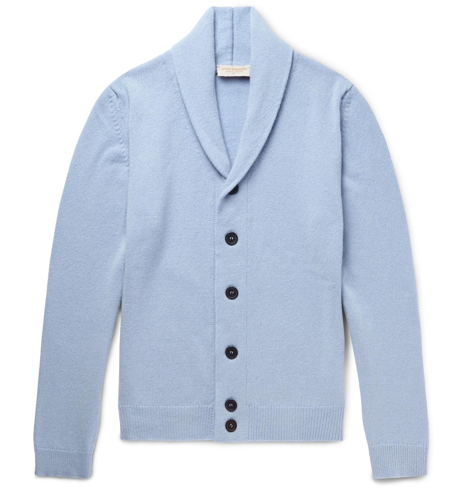 42e5903e2ba Lyst - John Smedley Patterson Slim-fit Shawl-collar Merino Wool And ...