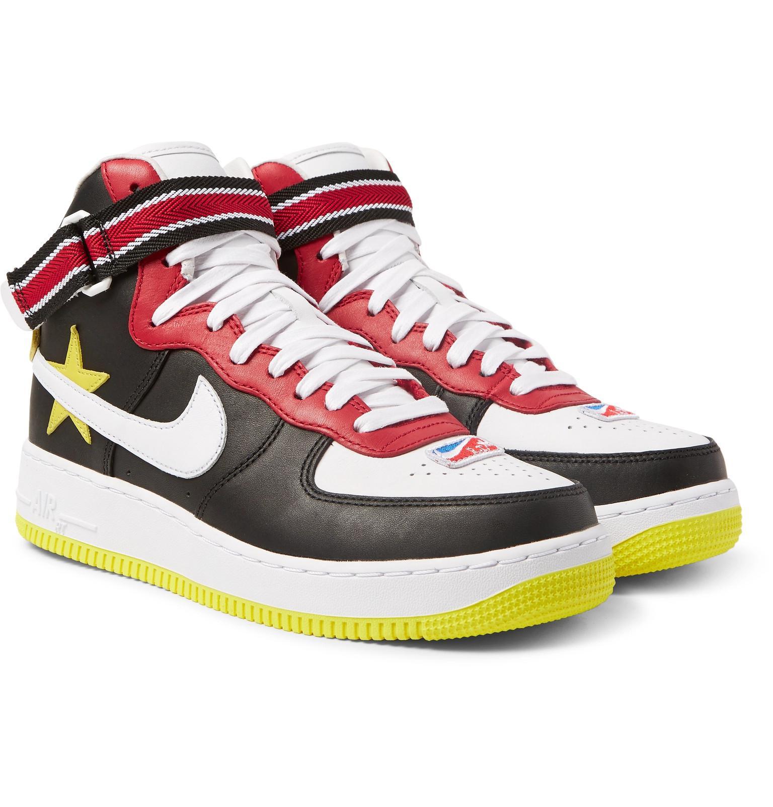 Nike. Men's Black + Riccardo Tisci Air Force 1 Leather High-top Sneakers
