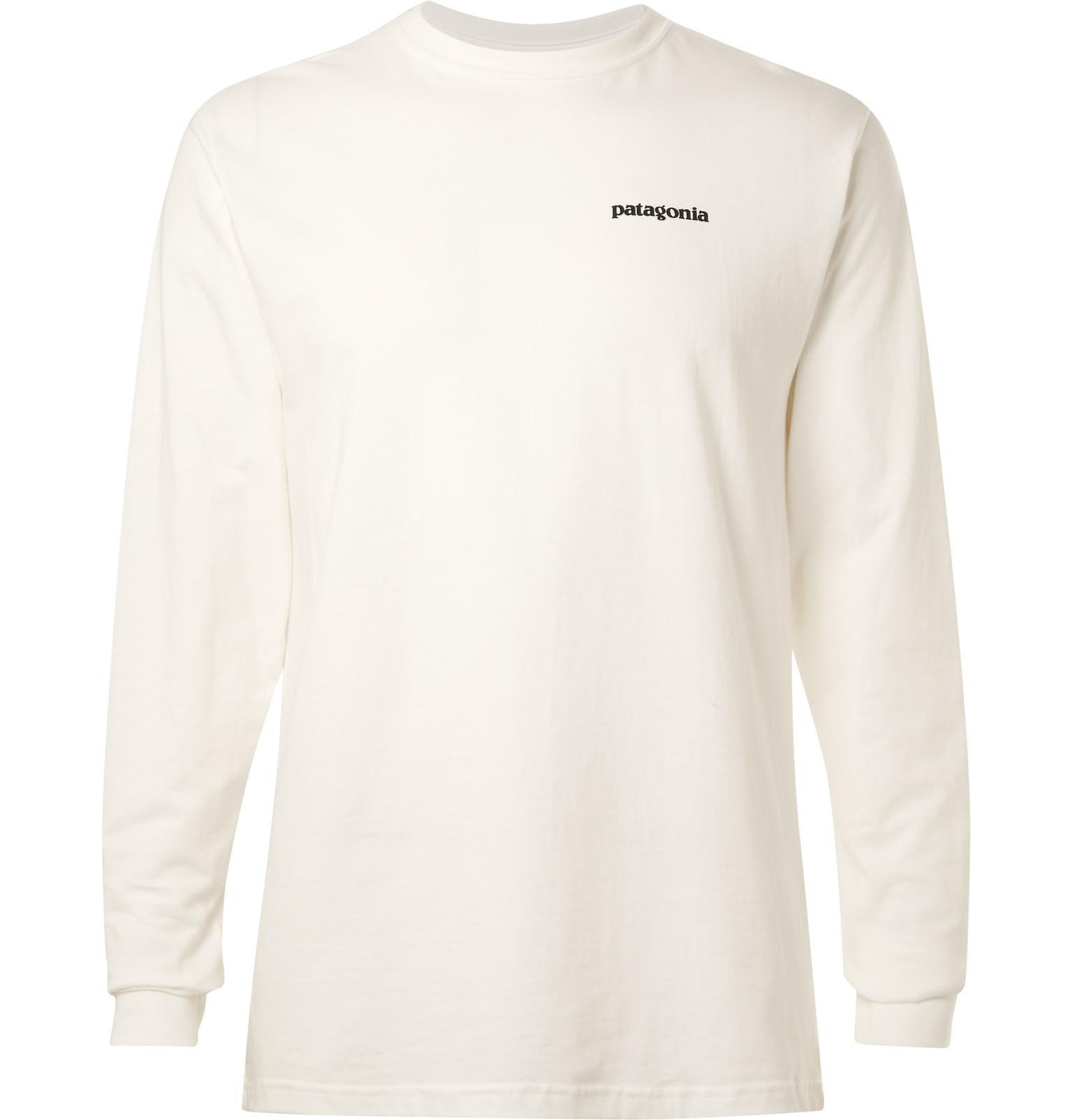 Lyst patagonia p 6 logo printed organic cotton jersey t for Organic cotton t shirt printing