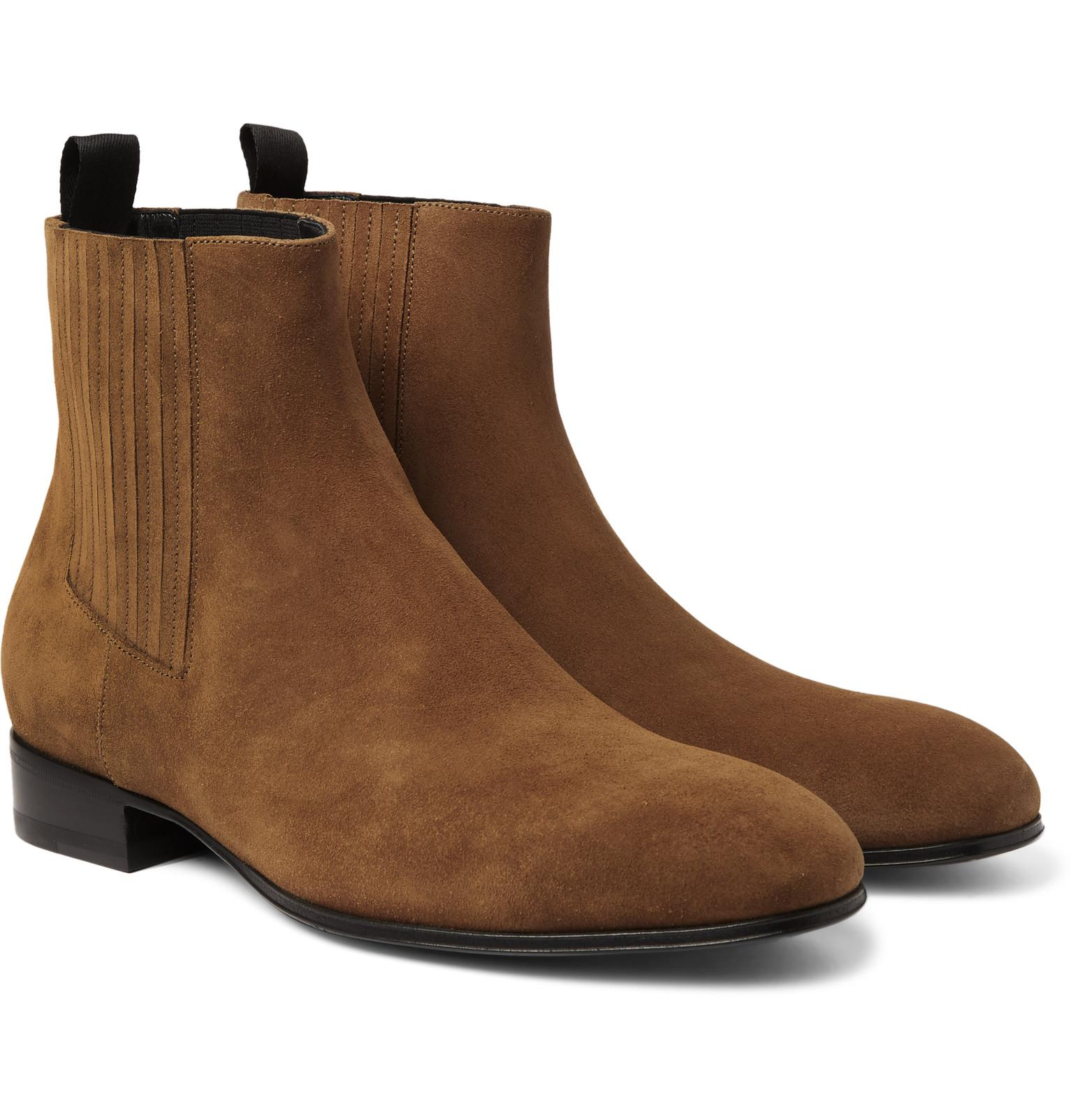 Balenciaga Suede Chelsea Boots In Blue For Men Lyst