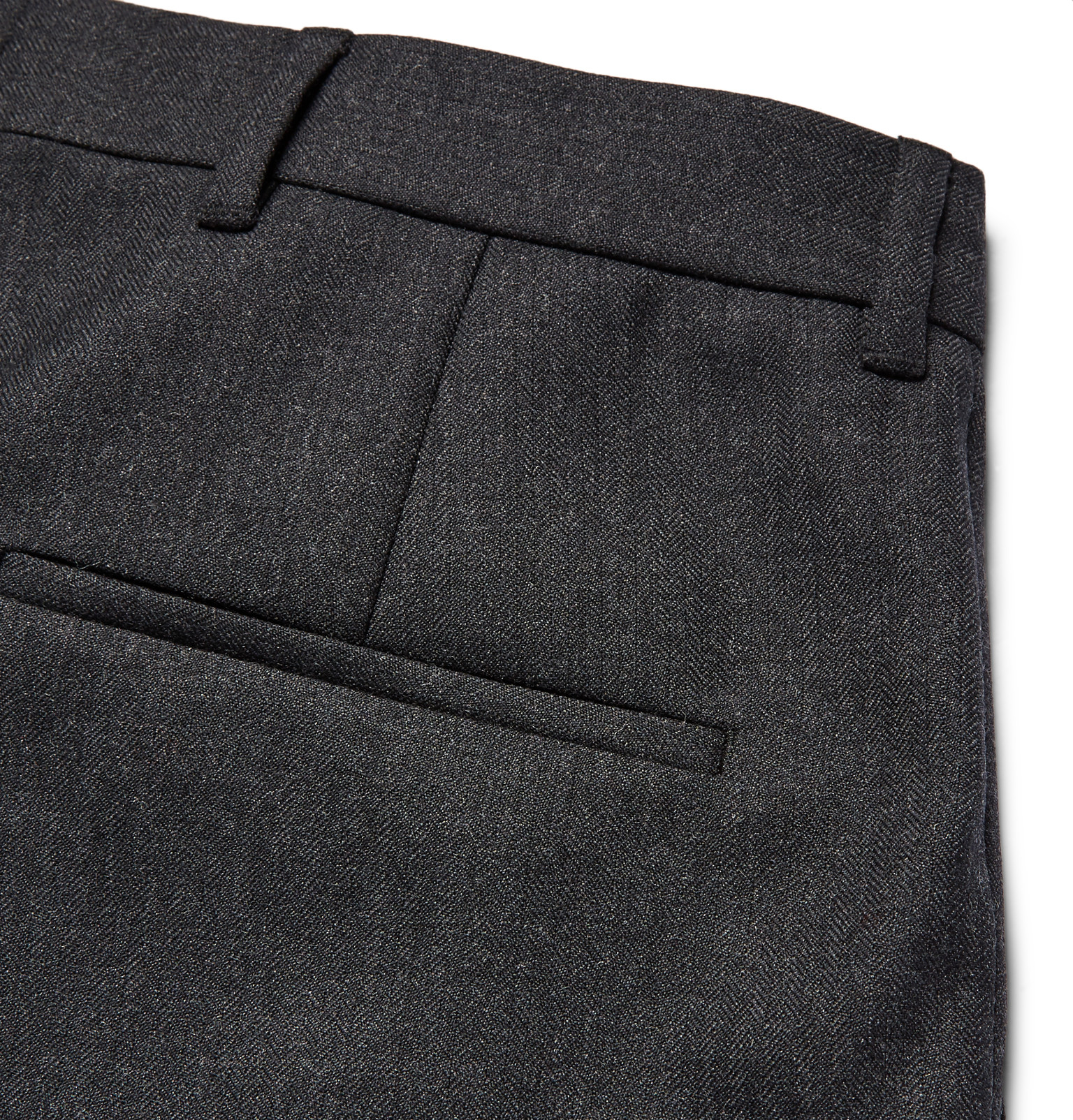 Acne Studios Piano Tapered Pleated Worsted-wool Trousers in Charcoal (Grey) for Men