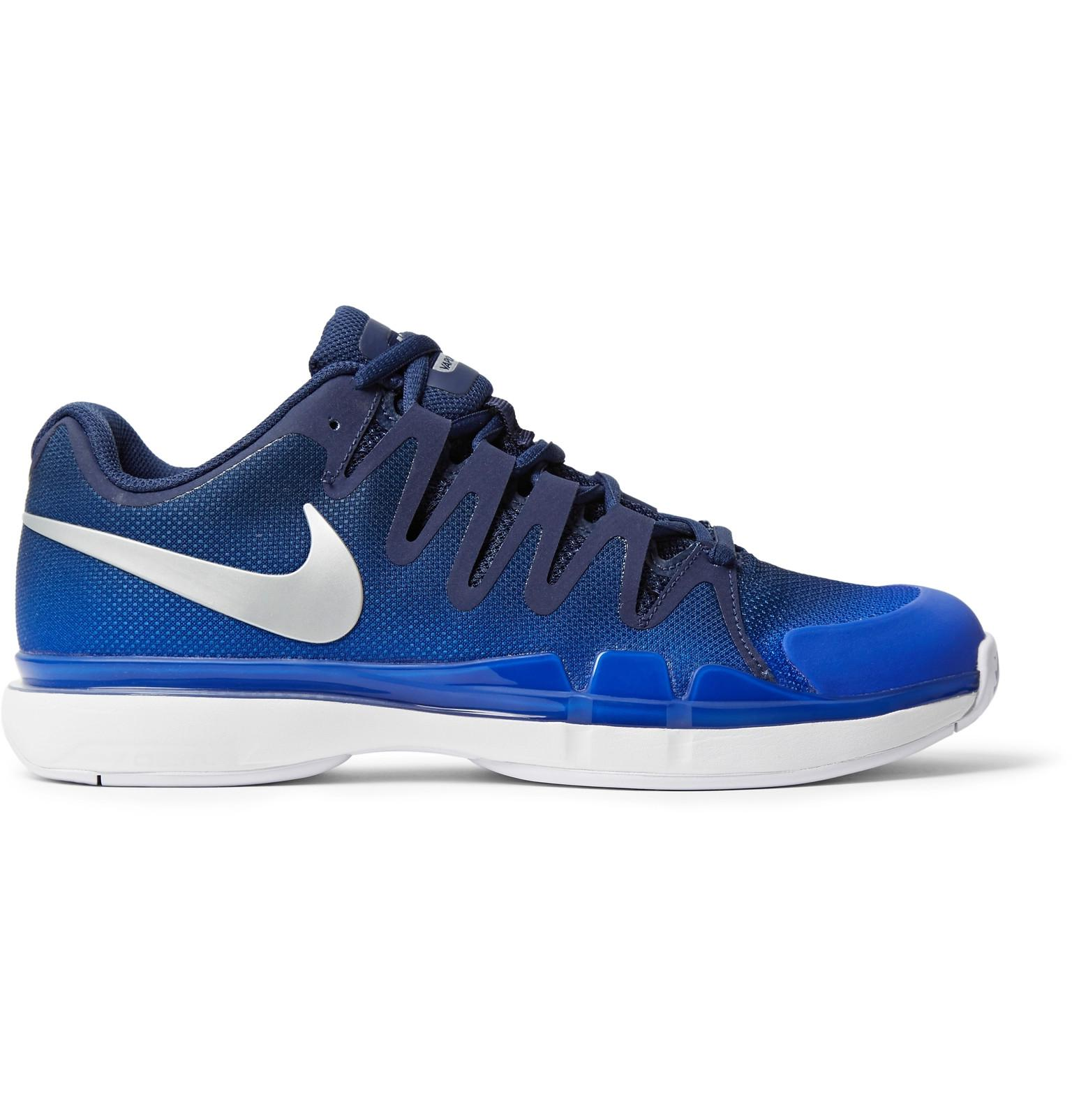 Nike. Men's Blue Zoom Vapor 9.5 Tour Rubber-trimmed Mesh Tennis Sneakers