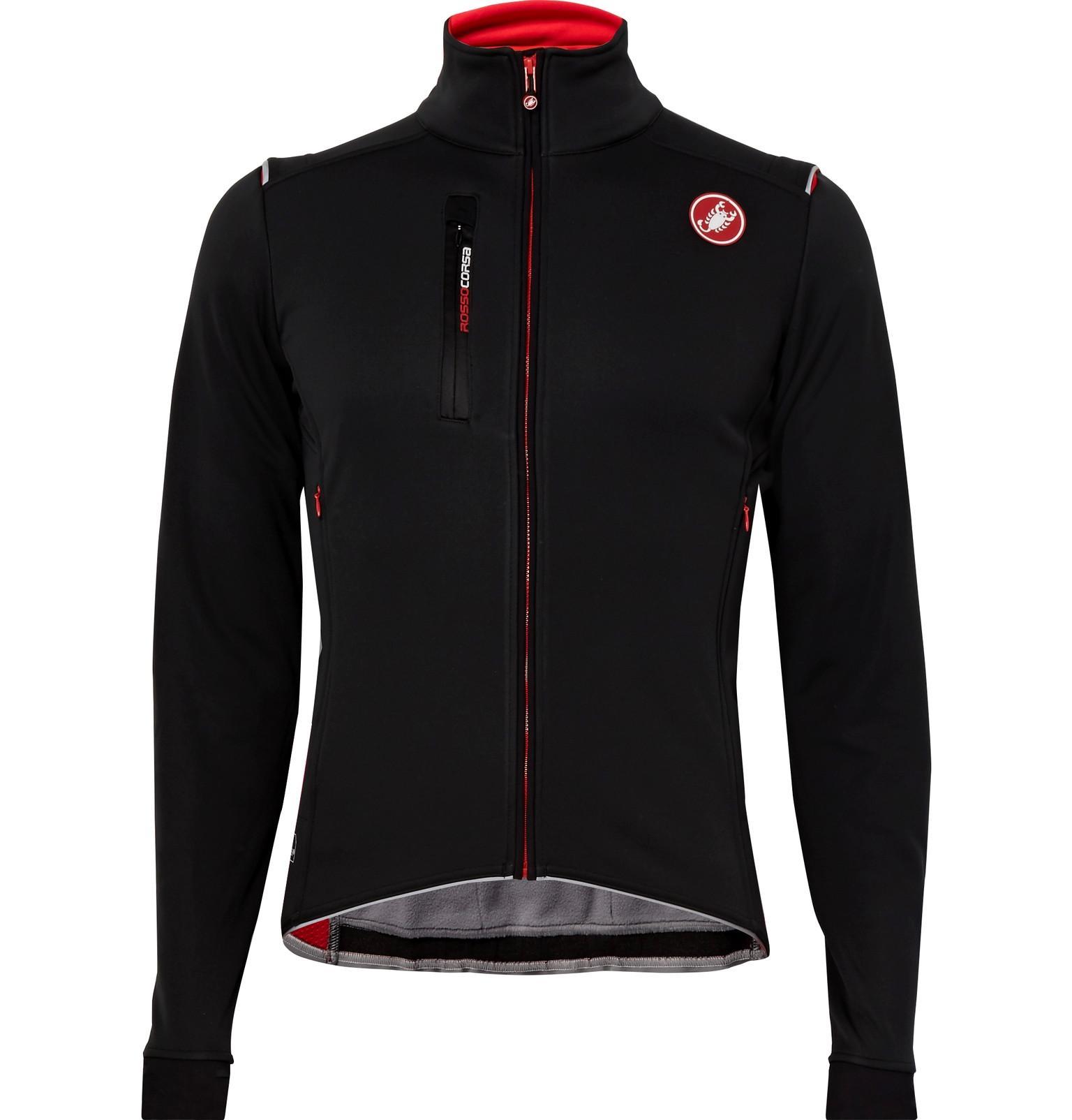 Lyst - Castelli Espresso 4 Gore Windstopper Cycling Jacket in Black ... 8244e4fb7