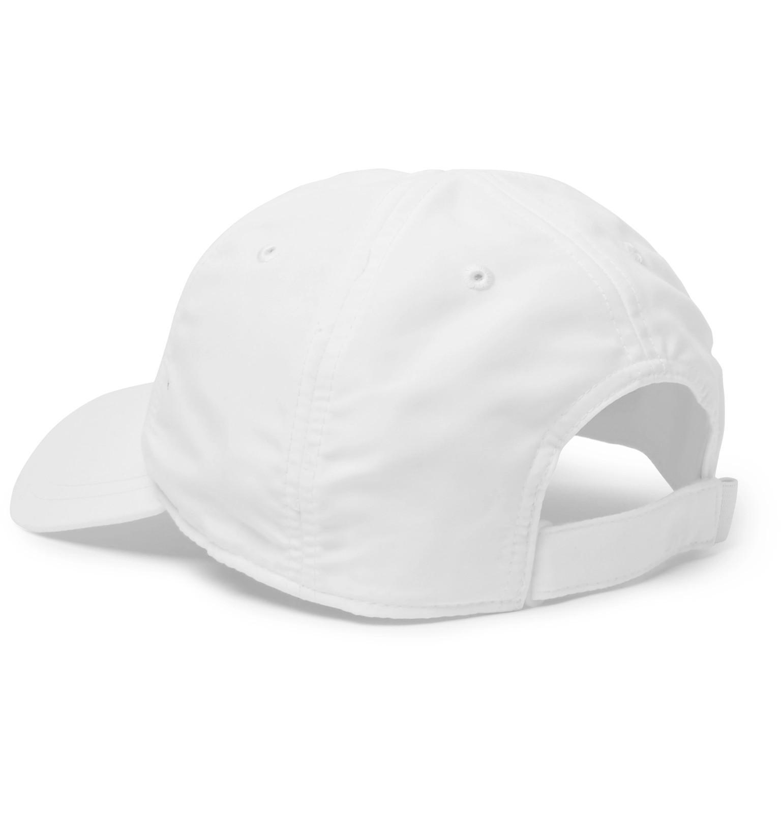 138743c72beed Lacoste Sport White Novak Djokovic Embroidered Shell Tennis Cap for men