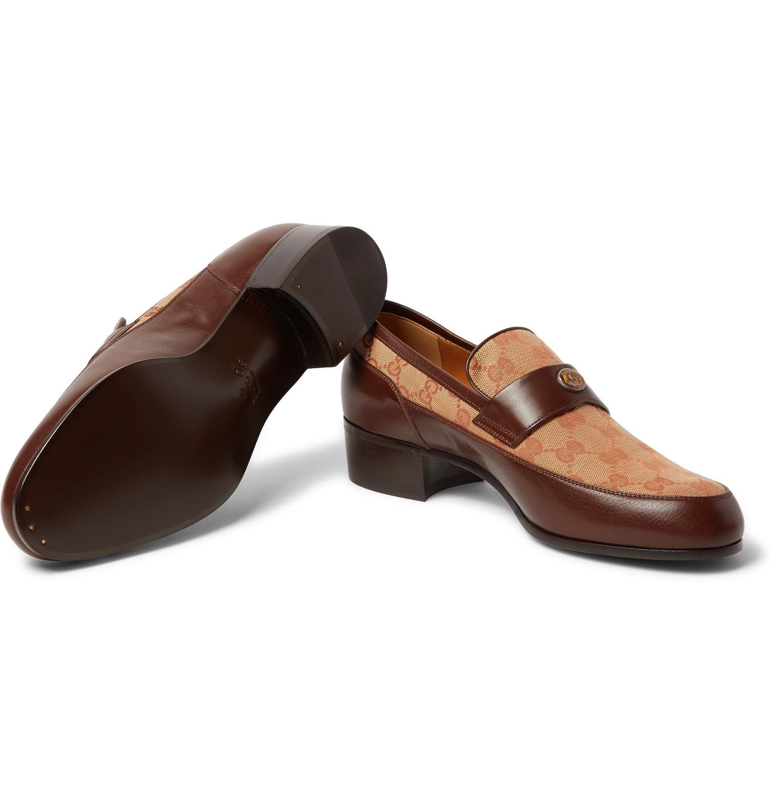 bbf3b3c1712 Gucci Original GG Loafers With Team Motif in Brown for Men - Save 36 ...