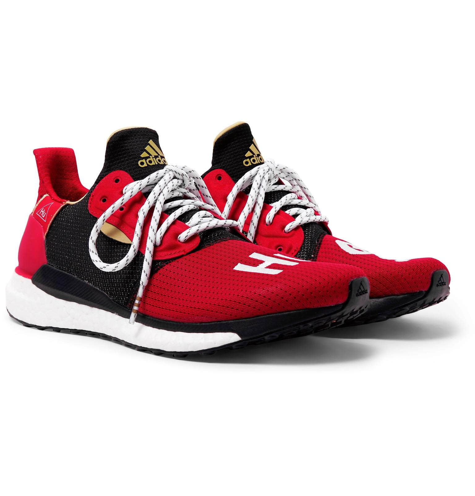 05595edd8160 adidas Originals + Pharrell Williams Cny Solarhu Sneakers in Red for ...