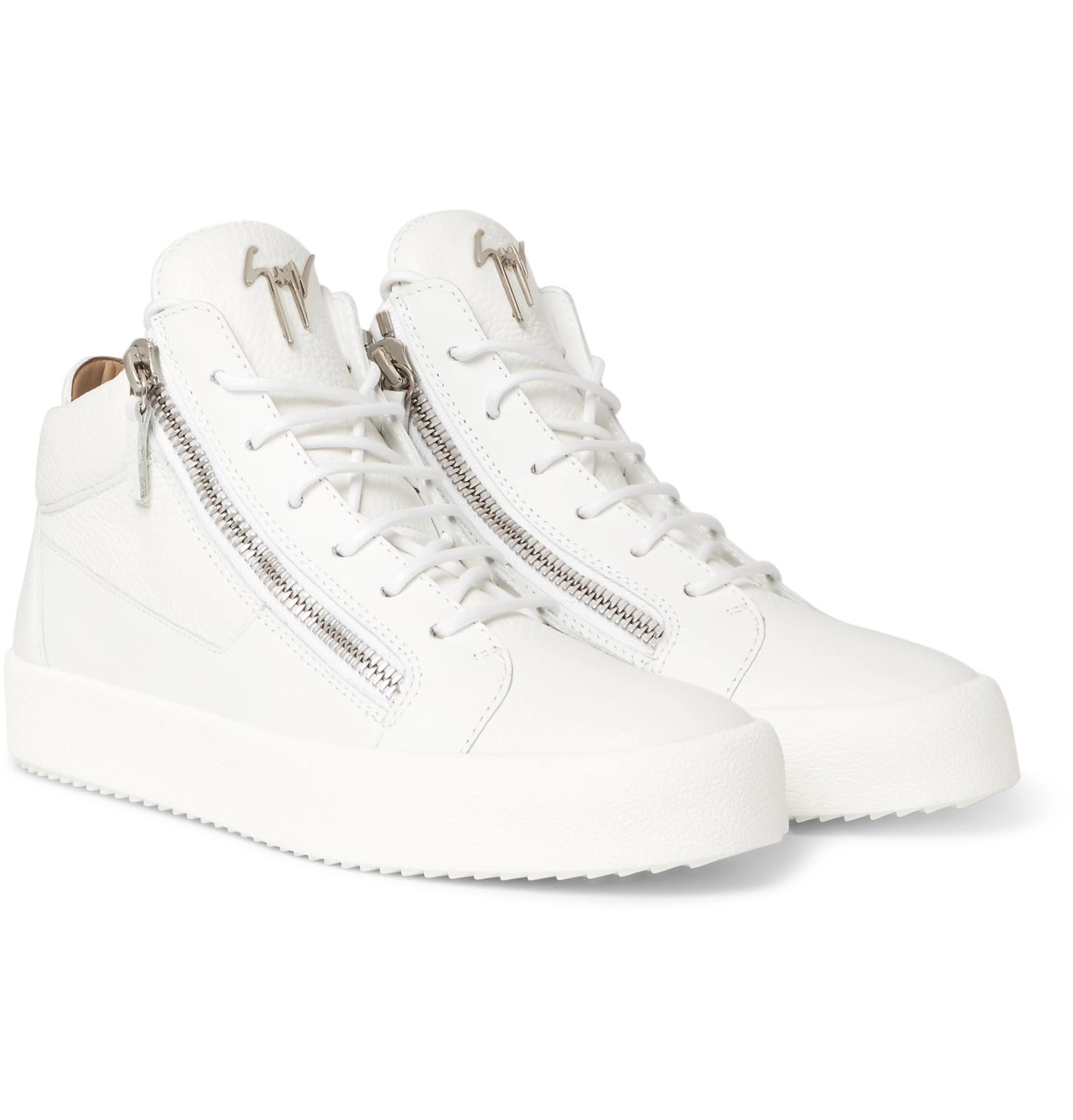 Logoball Textured-leather High-top Sneakers Giuseppe Zanotti BNLmm