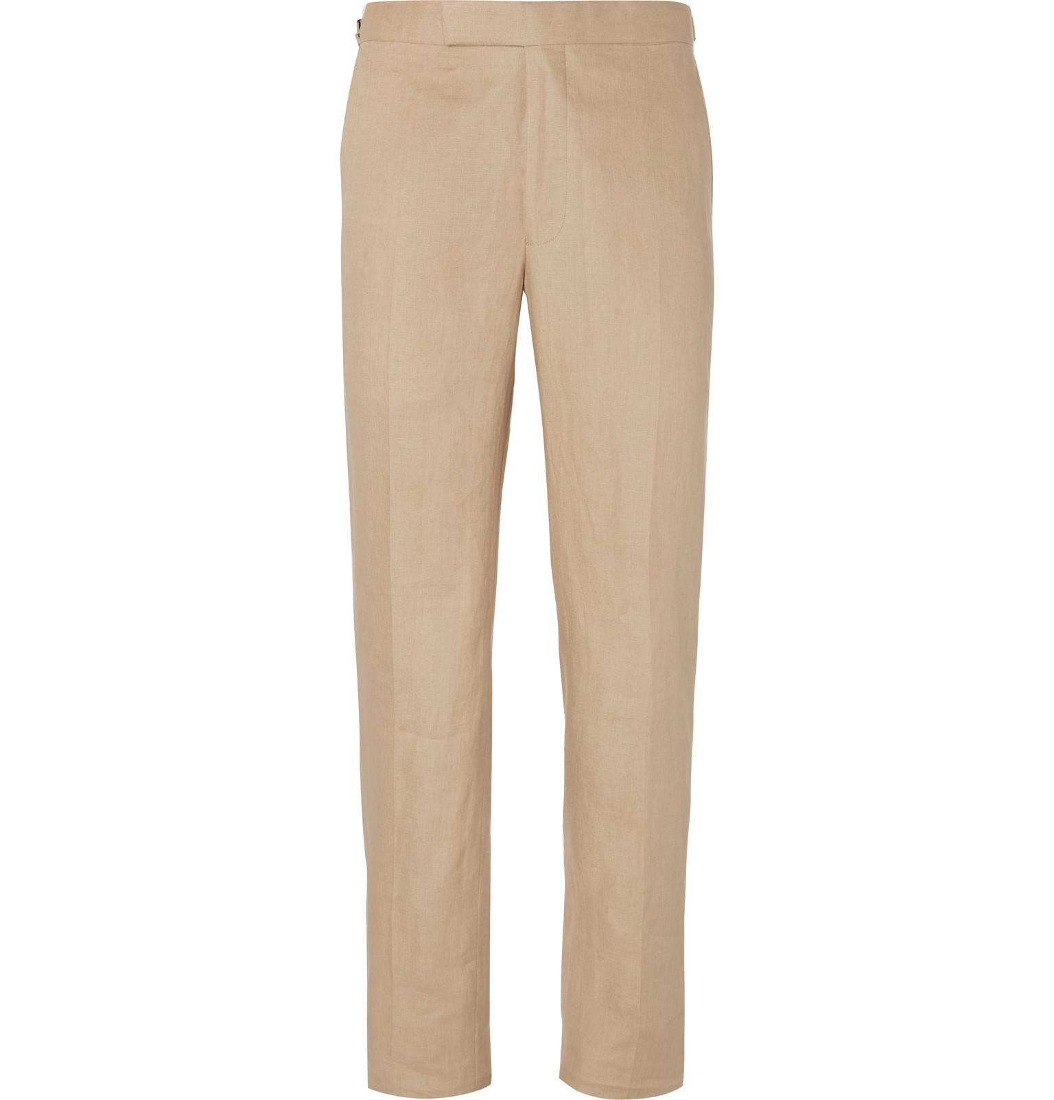 Pale-grey Hyde Slim-fit Wool And Mohair-blend Suit Trousers Richard James 41BI7z