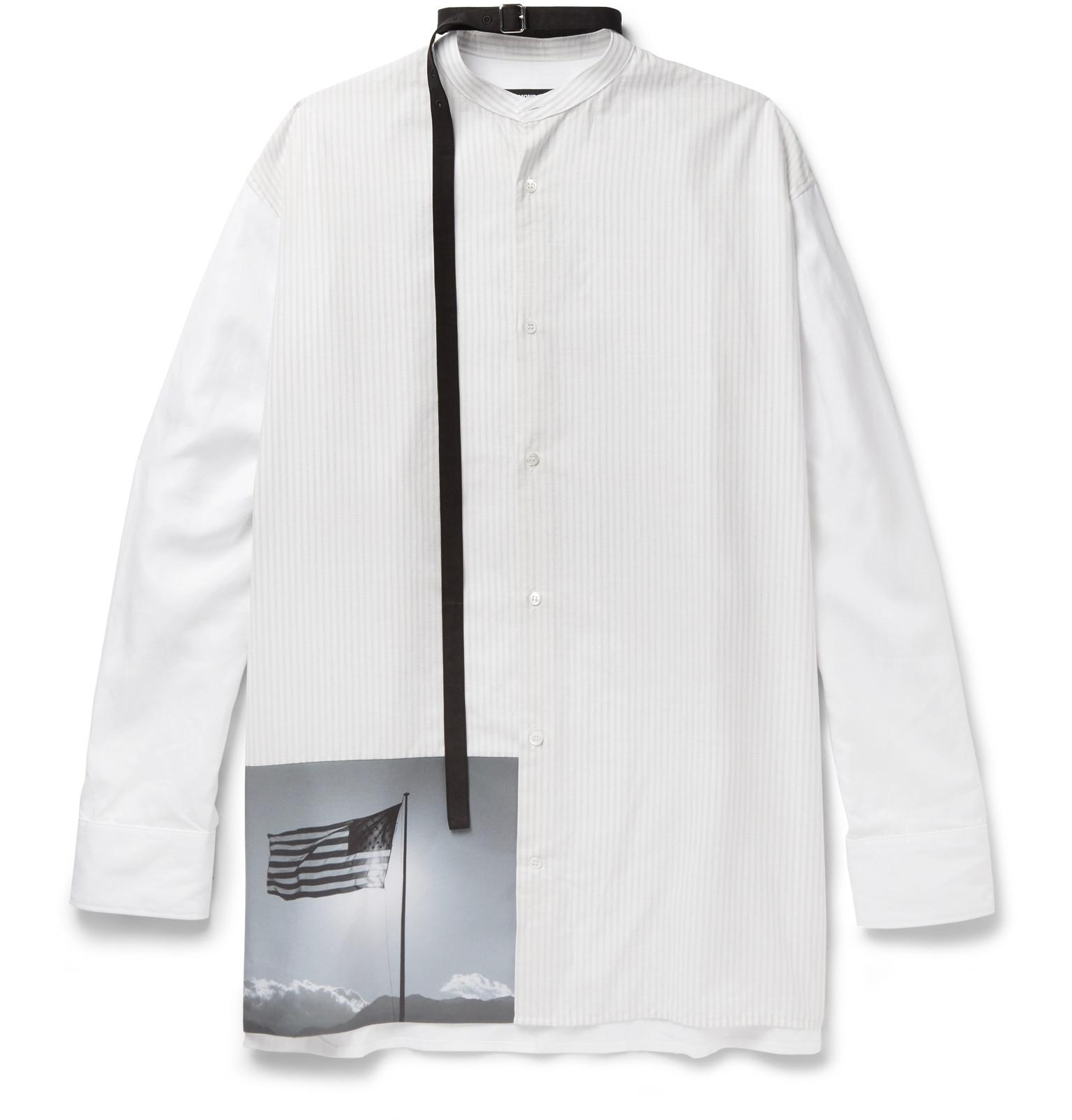 Raf simons robert mapplethorpe foundation strap detailed for Raf simons robert mapplethorpe shirt