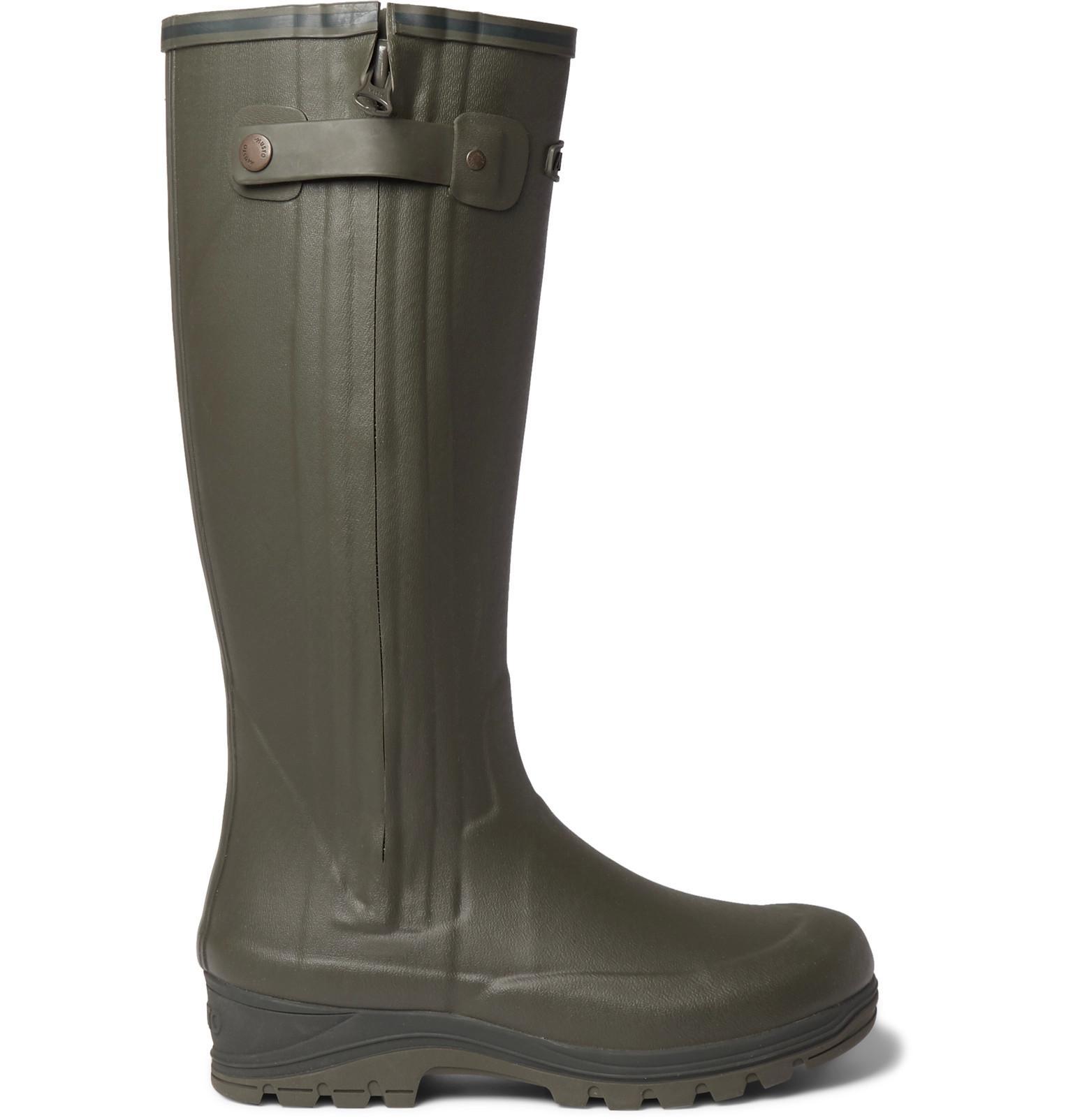 Musto Shooting Brampton Rubber Wellington Boots In Green