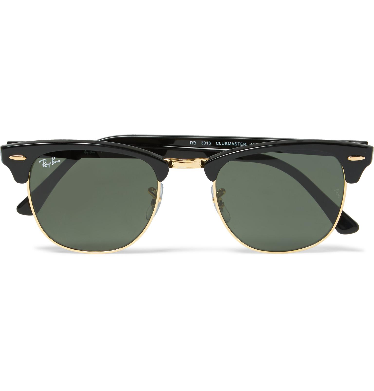 da72f527a1 Ray-Ban Clubmaster Square-frame Acetate And Gold-tone Sunglasses in ...