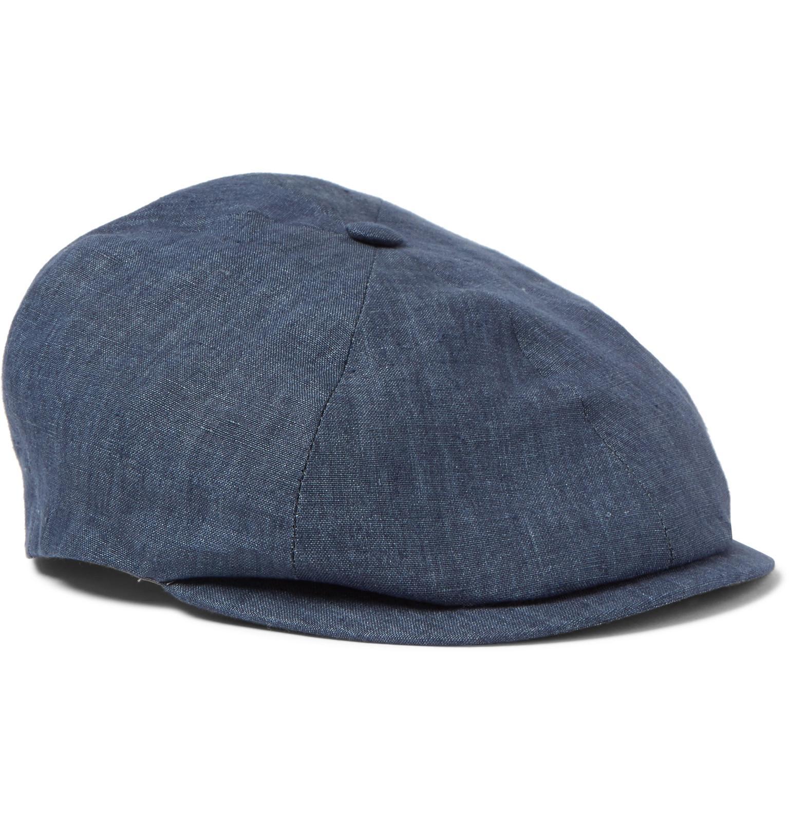 Reverb Linen-chambray Flat Cap Lock & Co Hatters UWtGkJ