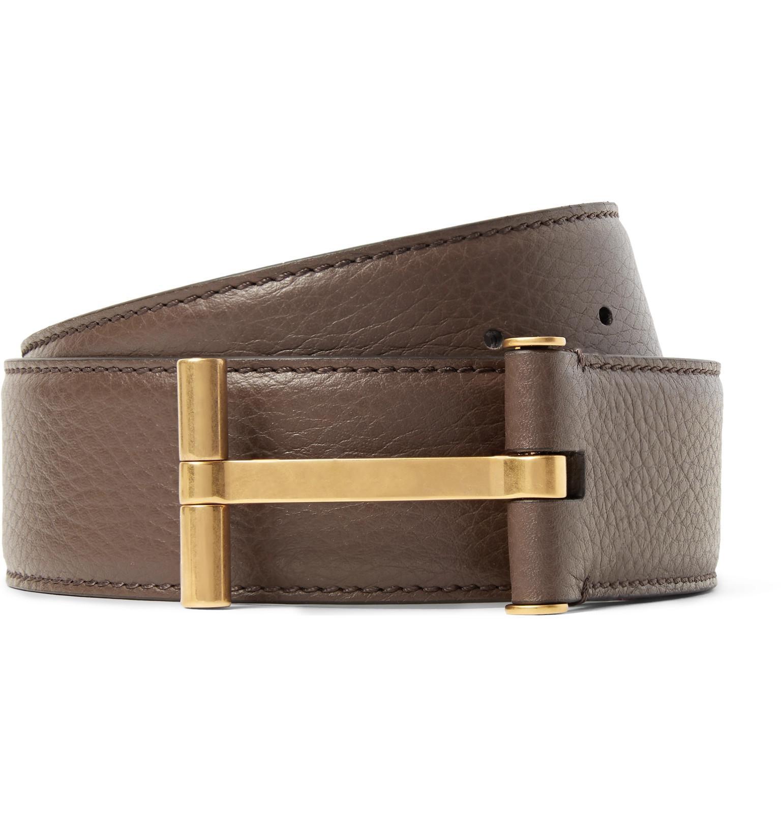 4cm Black And Brown Reversible Full-grain Leather Belt Tom Ford JLRrcR