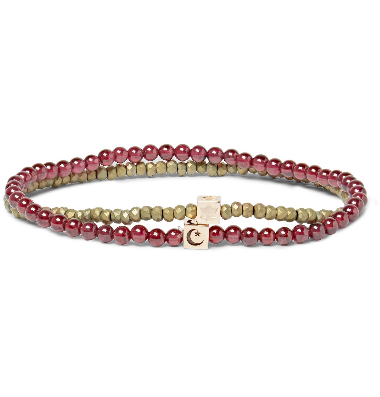 Set Of Two Glass And 14-karat Gold Bracelets Luis Morais Marketable Online Cheap Shop Cost Sale Online Outlet Perfect lemp0UEcY