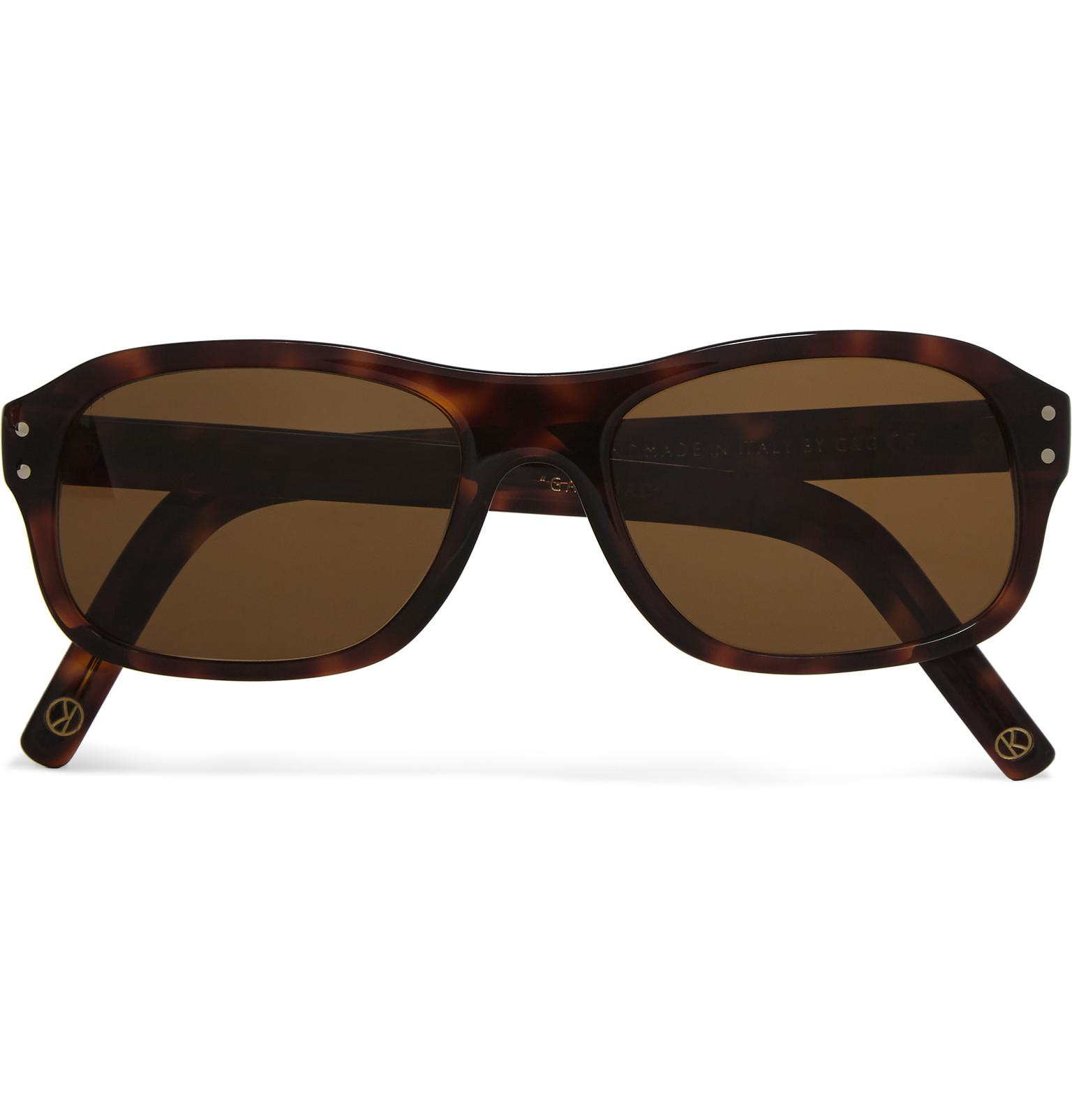 3a2daad980c Kingsman. Men s Brown Cutler And Gross Square-frame Acetate Optical  Sunglasses