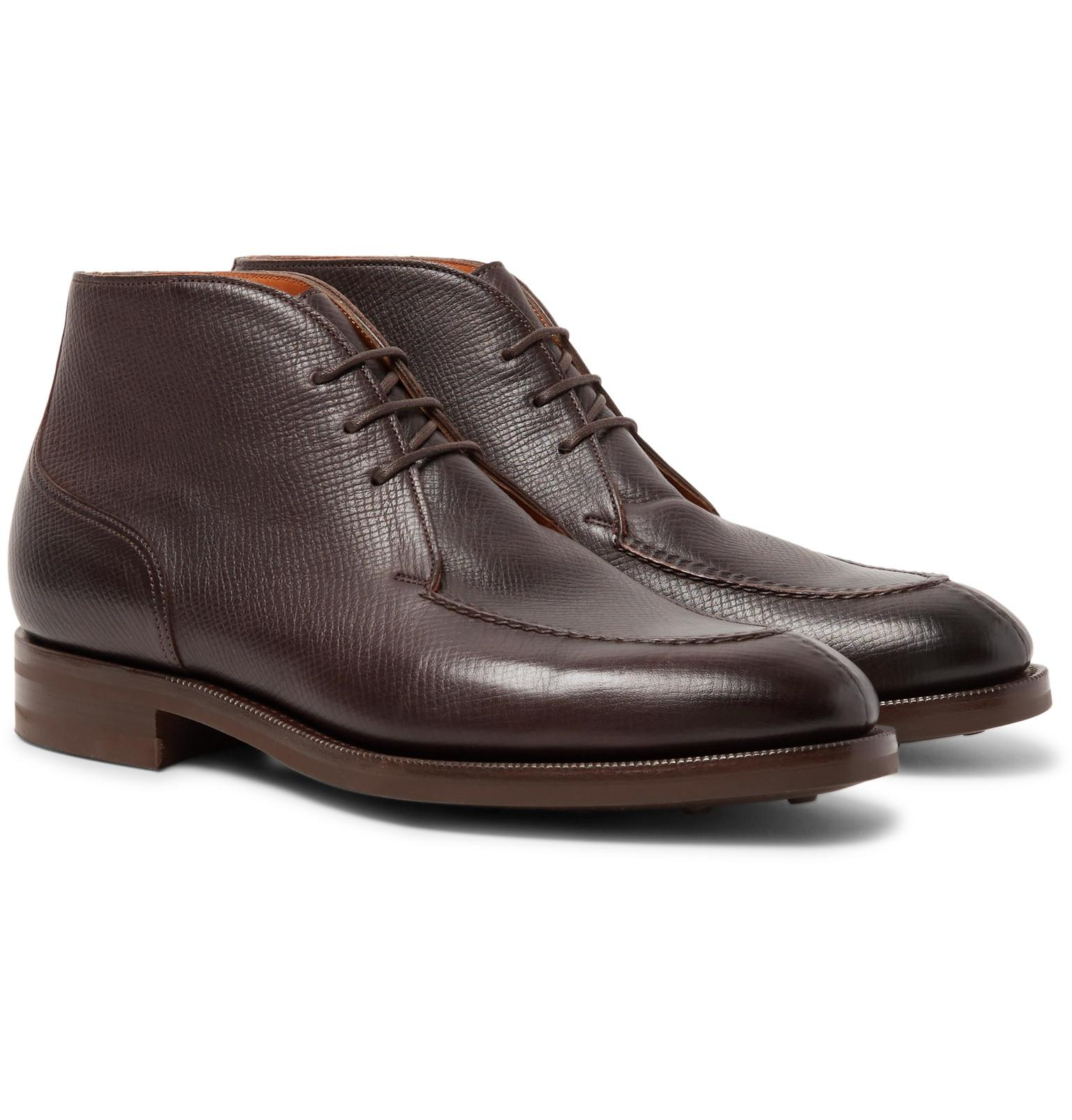 Tan leather 'Halifax' chukka boots for cheap price 8cyD6c