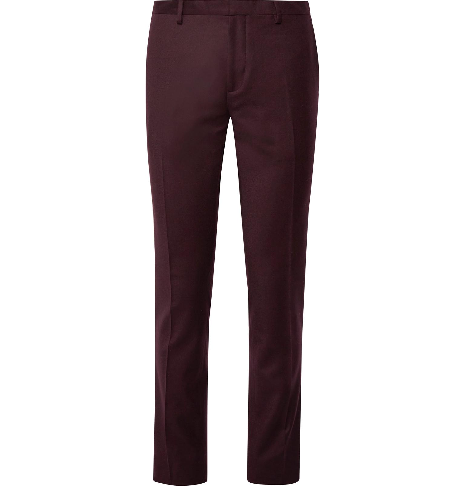 88568d96303 Paul Smith Burgundy Slim-fit Wool And Cashmere-blend Suit Trousers ...