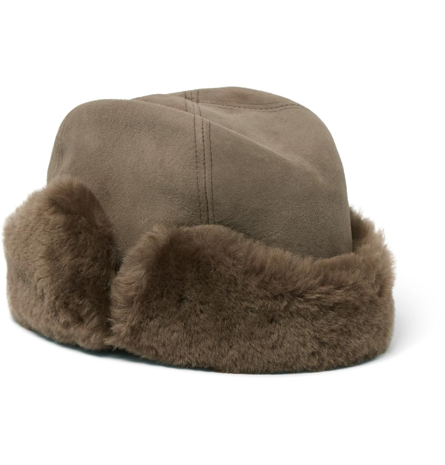 Lock   Co. Vermont Shearling Hat in Brown for Men - Lyst 697fb28c44d