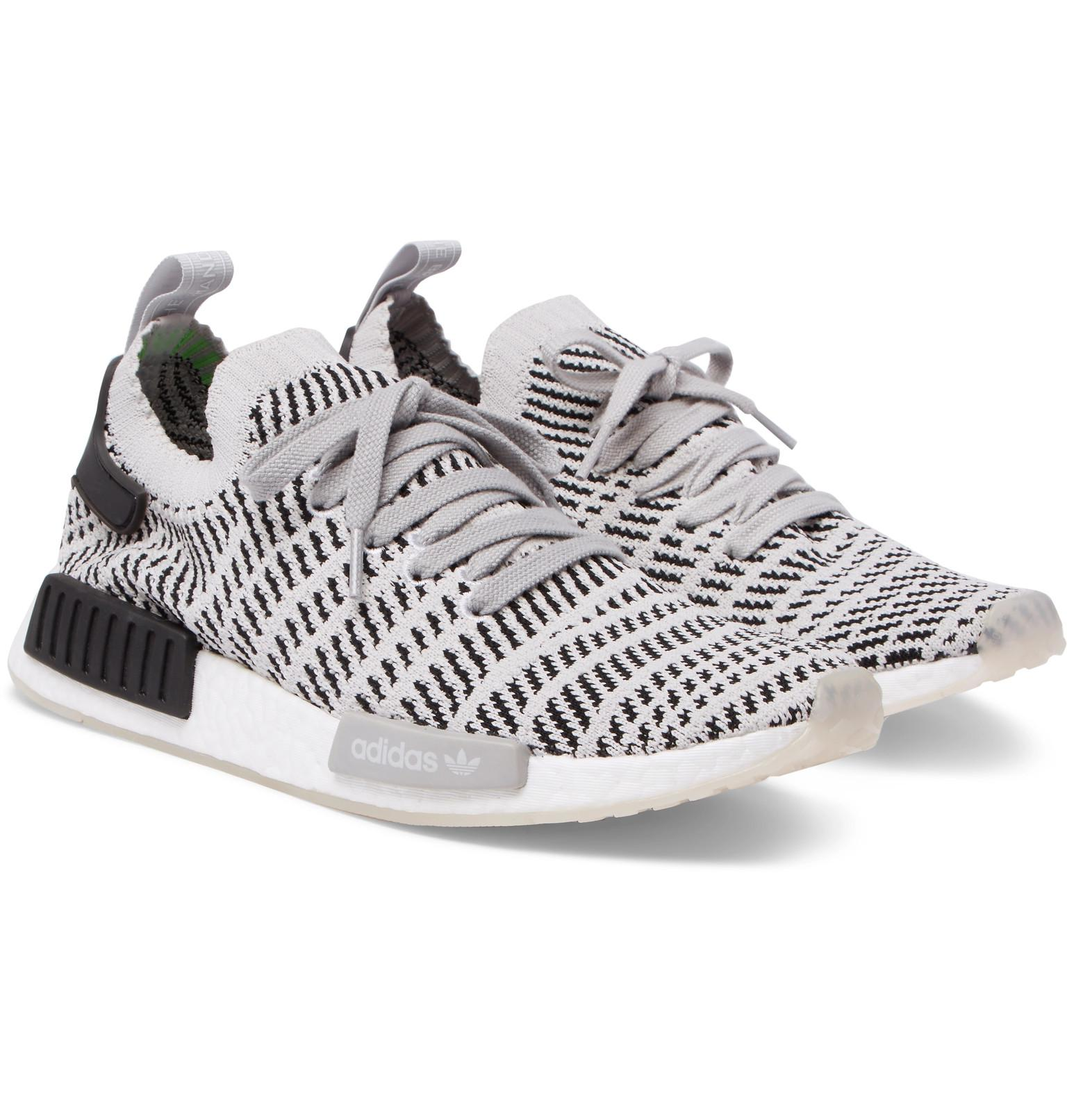 77cc4d31d adidas Originals Nmd R1 Stealth Primeknit Sneakers in Gray for Men ...