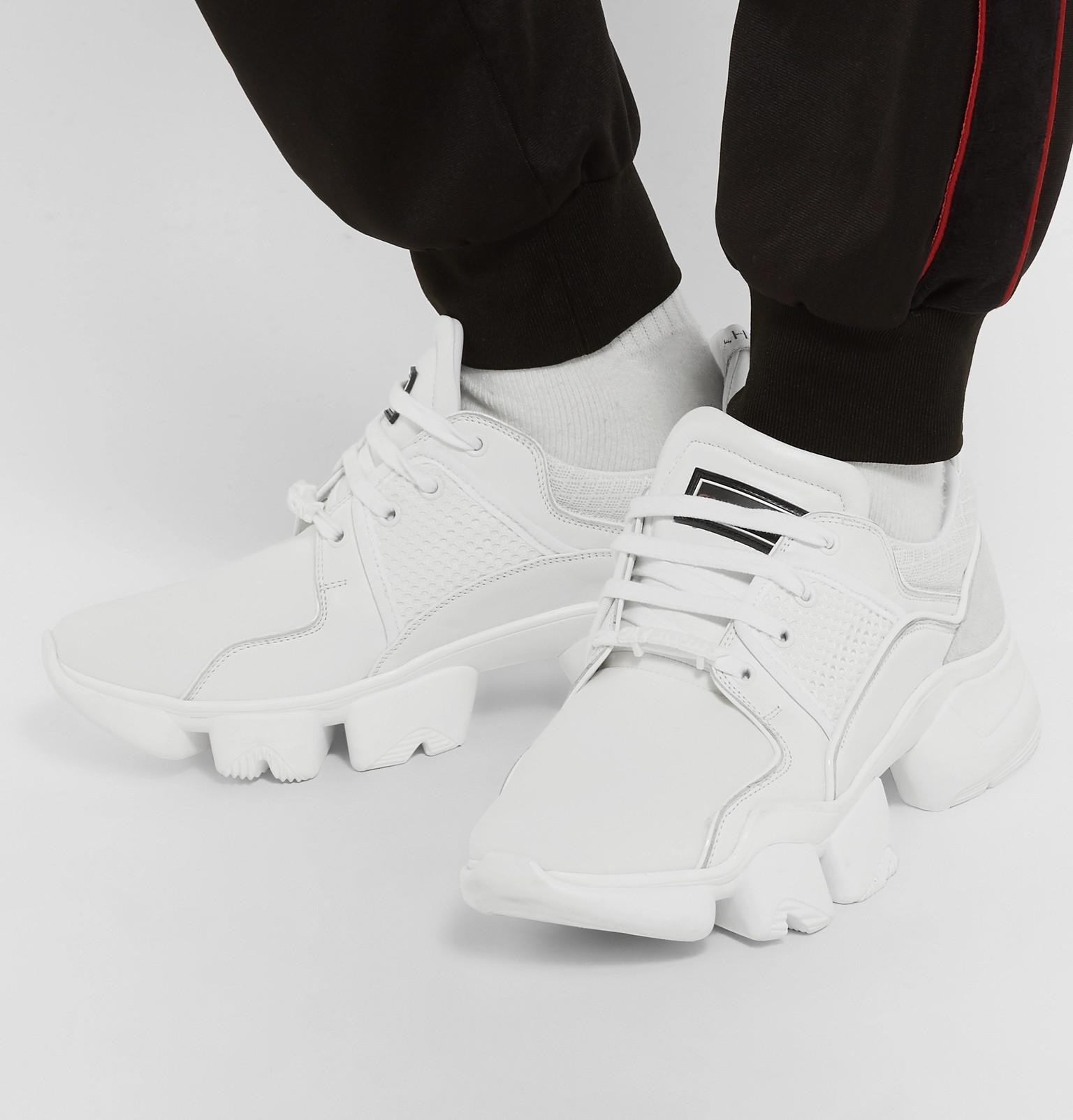 Men's Jaw Trainers NeopreneSuedeLeather And Mesh White oeWdBrCx