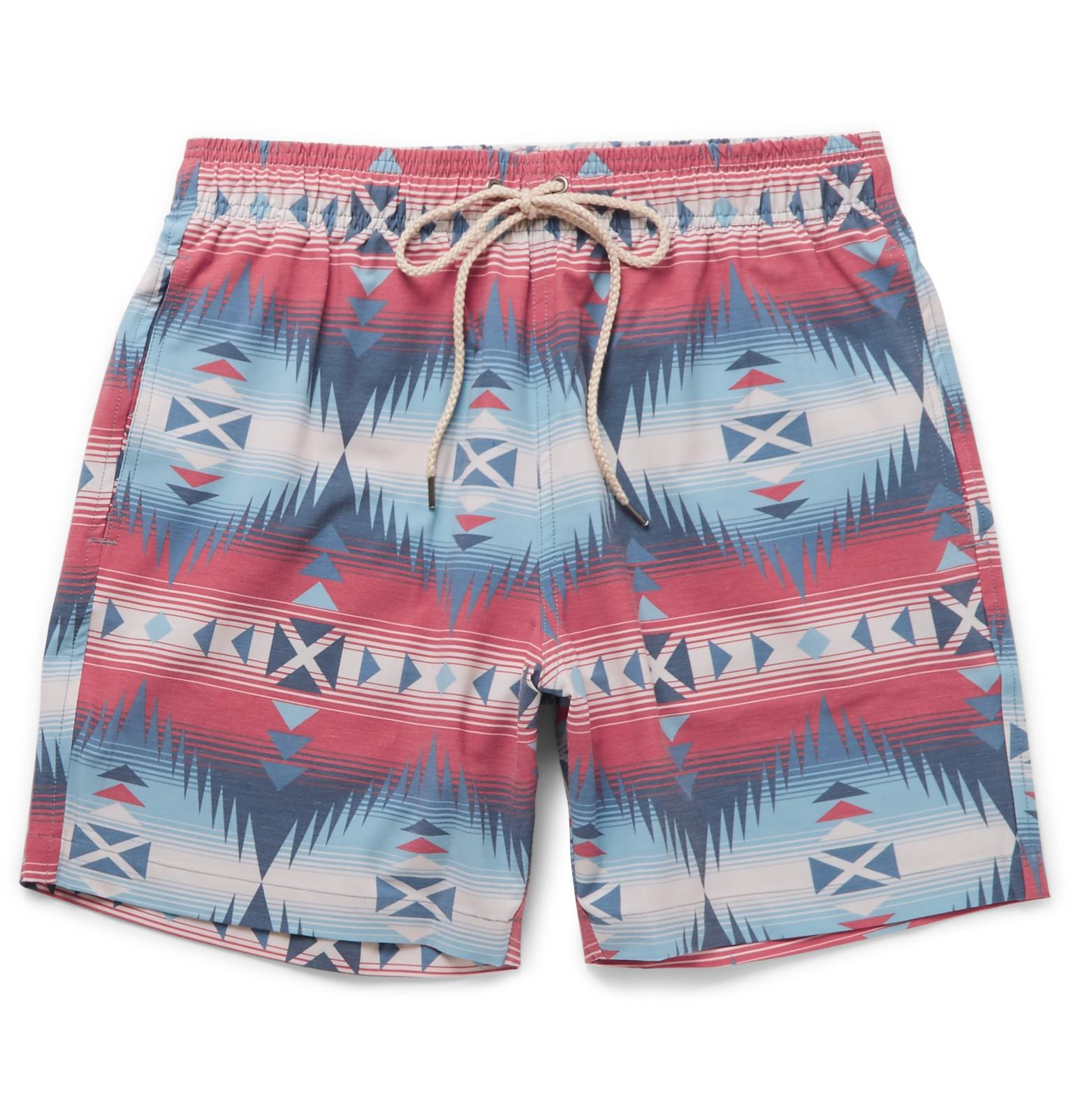 8896888bbcab7 Faherty Brand Beacon Mid-length Printed Swim Shorts for Men - Lyst
