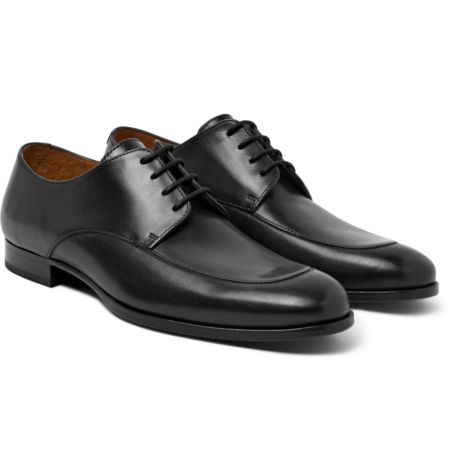 Cheap Designer Shoes Hugo Boss Hanover Leather Derby Shoes Black Men