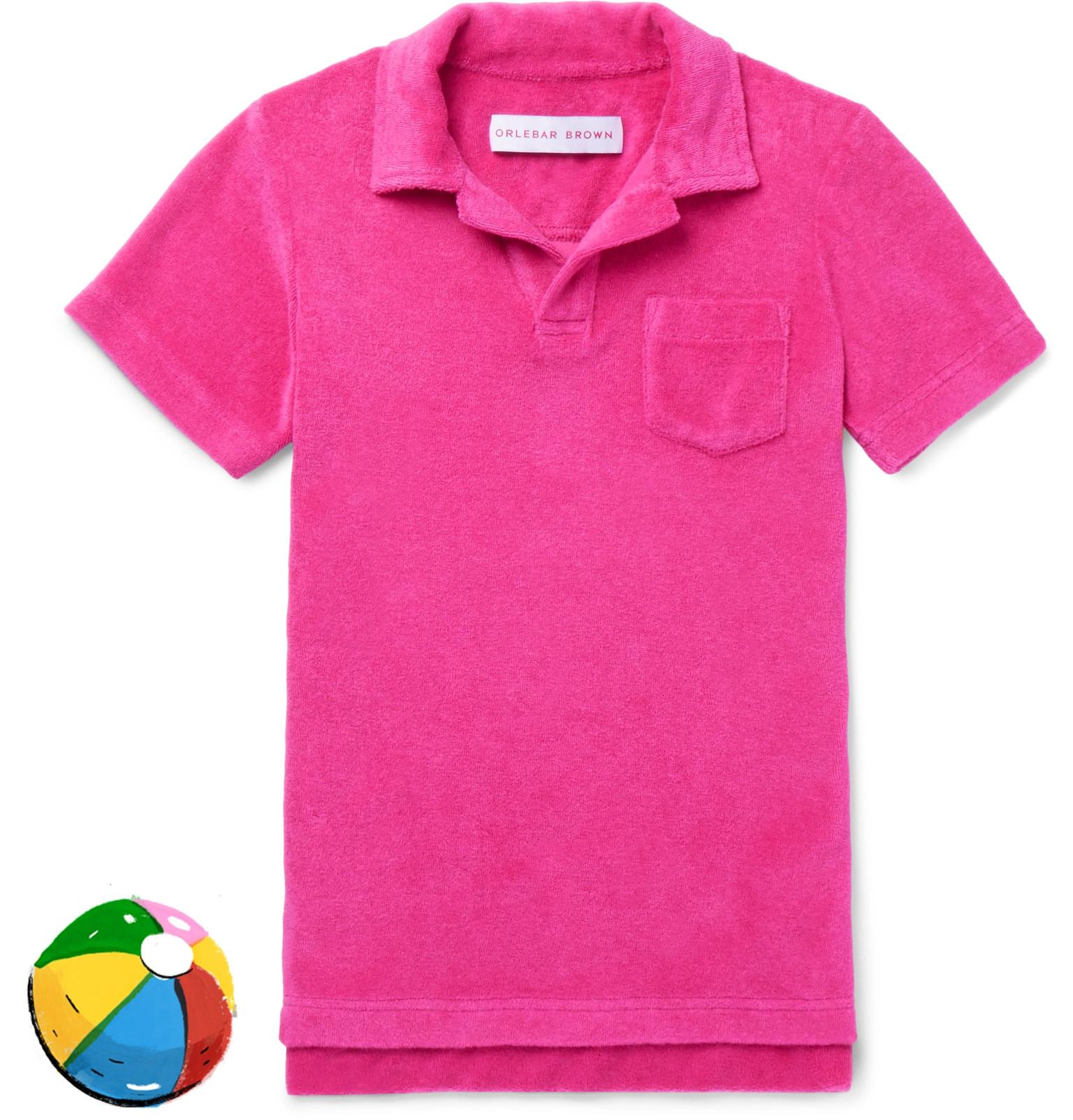 Orlebar Brown Boys Ages 4 - 12 Digby Striped Cotton-terry Polo Shirt - Navy iYfCy