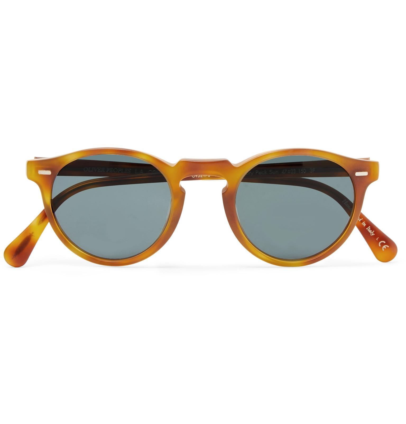e4b859f418 Oliver Peoples. Men s Brown Gregory Peck Round-frame Tortoiseshell Acetate  Photochromic Sunglasses