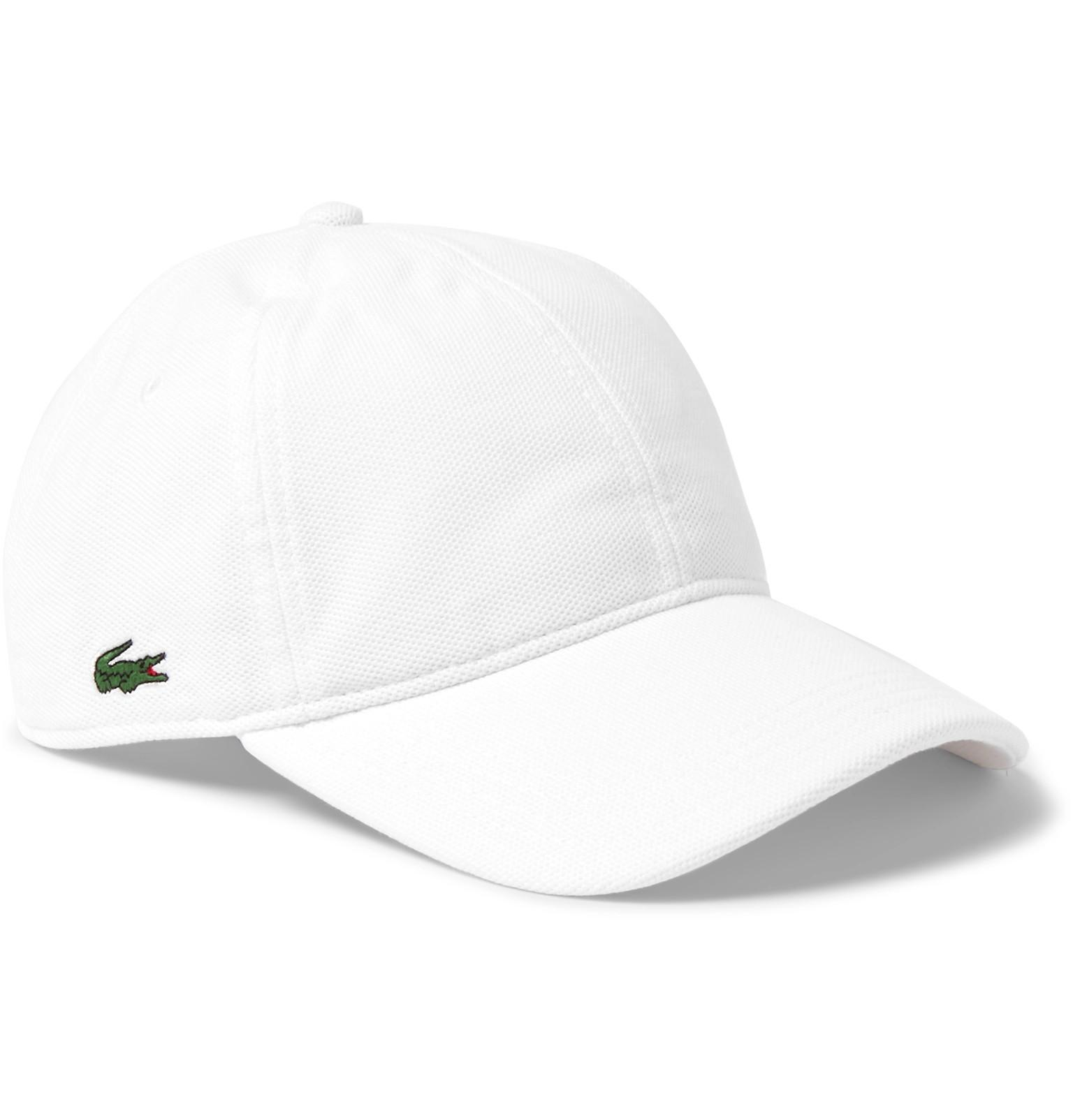 7e29f88738c32 Lacoste Sport Logo-appliquéd Woven Tennis Cap in White for Men - Lyst