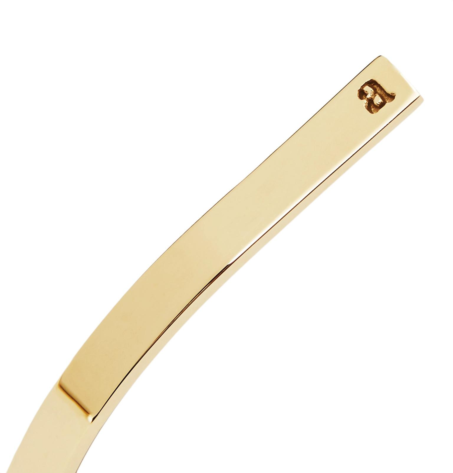 Alice Made This Leather P4 Bancroft Sterling Silver Cuff in Gold (Metallic) for Men