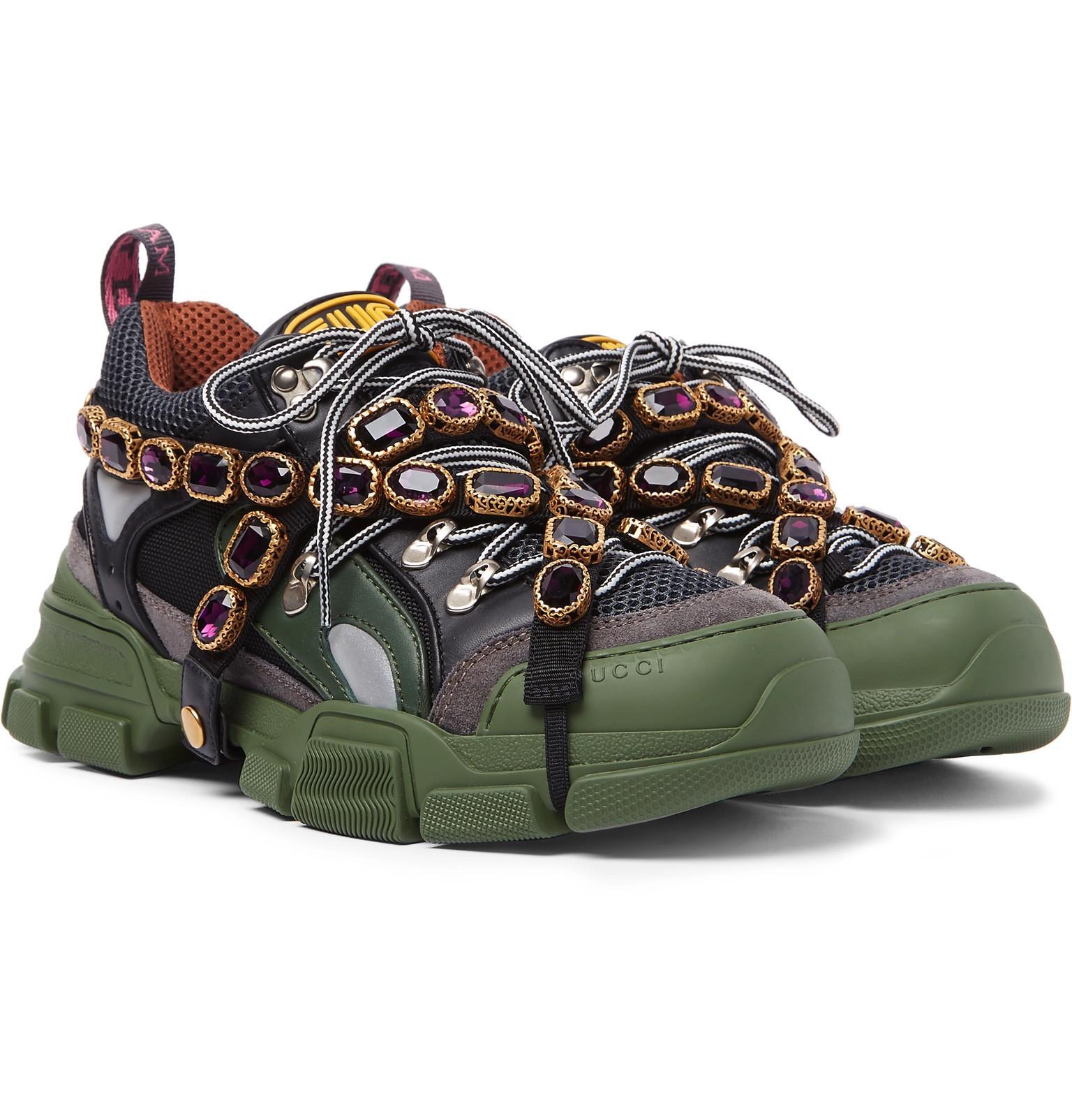 Gucci Leather Men's Flashtrek Sneaker