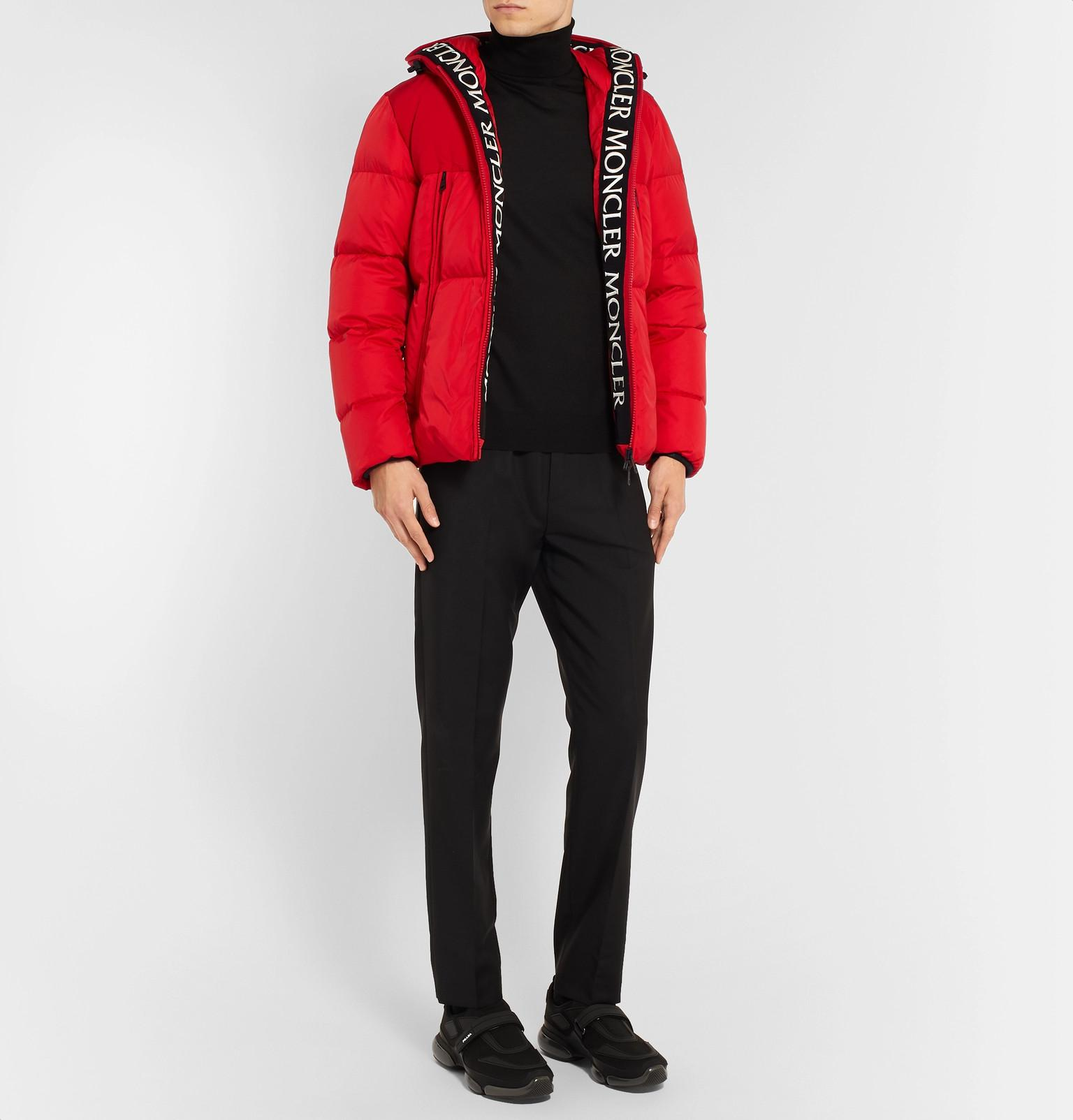 7df51a9e5 Moncler Montclar Grosgrain-trimmed Quilted Shell Hooded Down Jacket ...