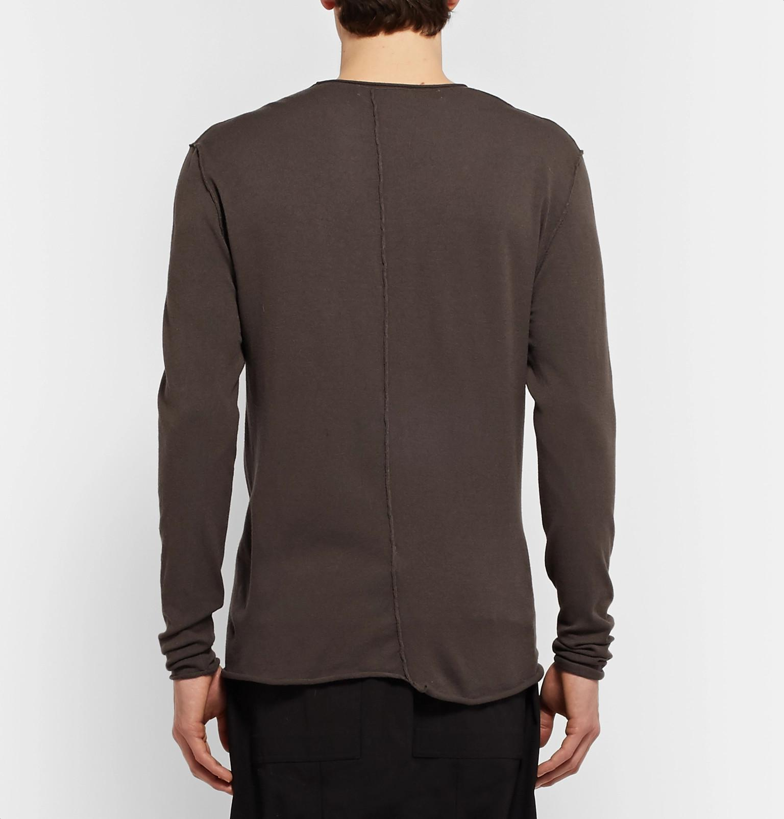 Isabel Benenato Denim Stretch-knit Sweater in Dark Gray (Grey) for Men