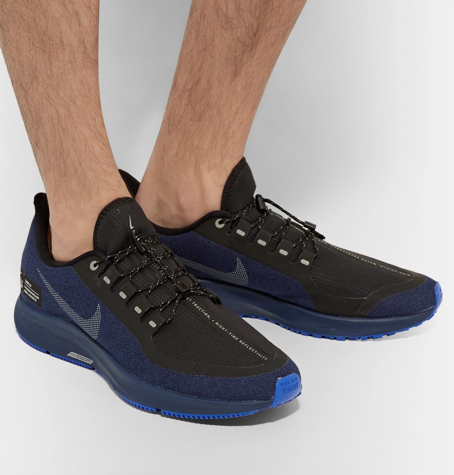 reputable site dcb97 367ed Nike Blue Air Zoom Pegasus 35 Shield Water-repellent Sneakers for men