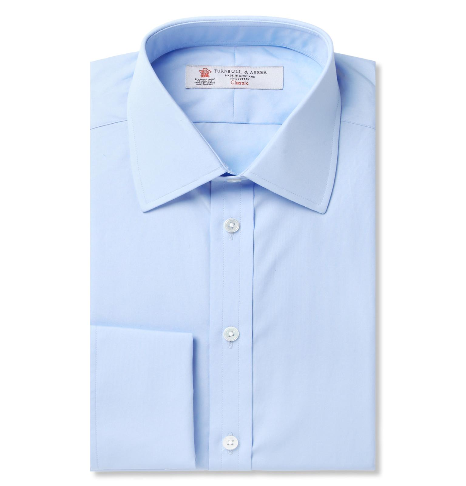 Blue Double-cuff Cotton Shirt Turnbull & Asser Free Shipping Affordable Sast For Sale Cheap Sale For Sale Cheap Price Discount Authentic Cool 9KcnQ6