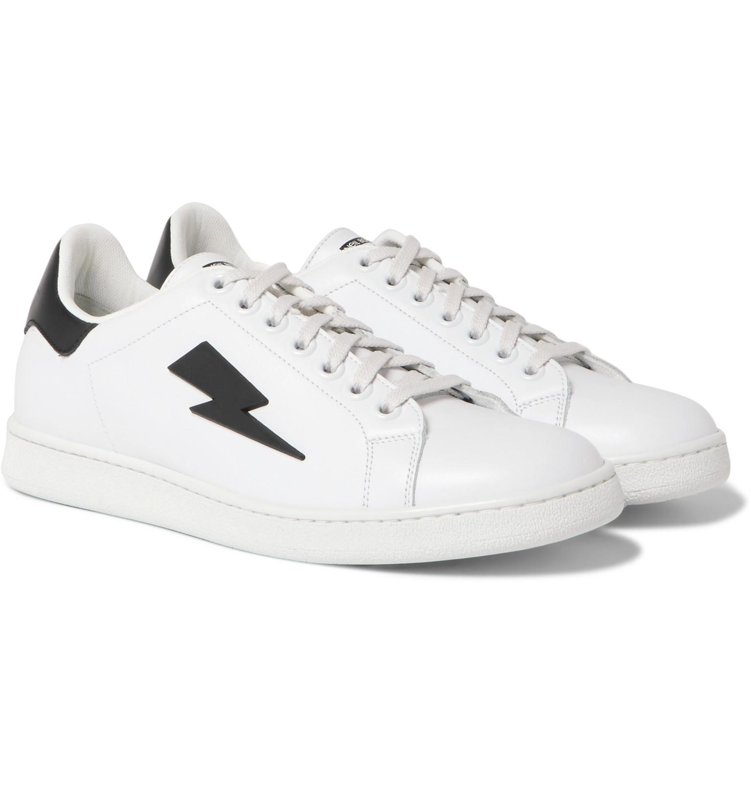 6cd107cddf4 neil-barrett-white-Rubber-trimmed-Leather-Sneakers-White.jpeg