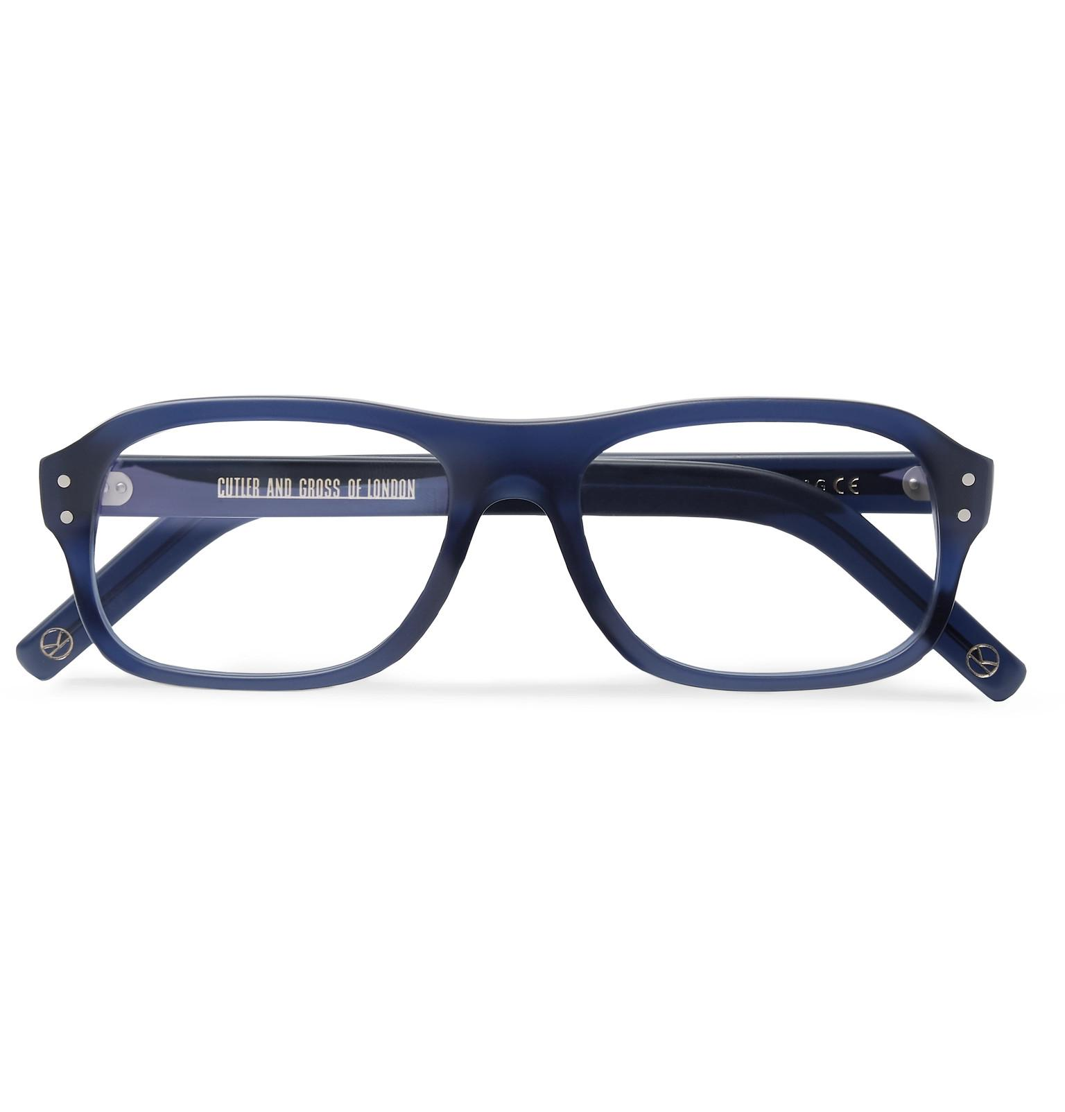 541a258f57 Kingsman. Men s Blue Cutler And Gross Eggsy s Square-frame Acetate Optical  Glasses