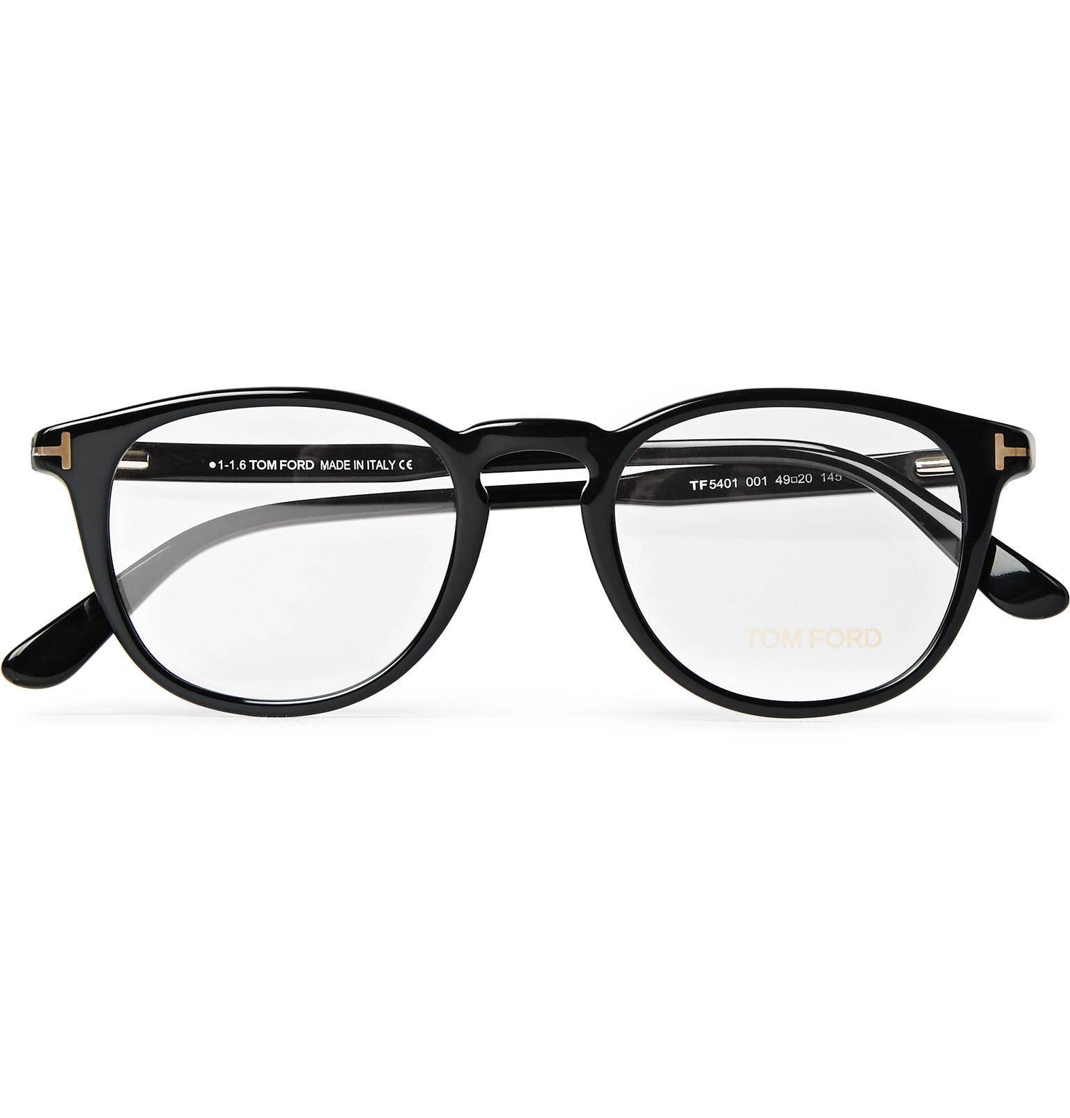 53de8cdbbc8 Tom Ford Round-frame Acetate Optical Glasses in Black for Men - Save ...
