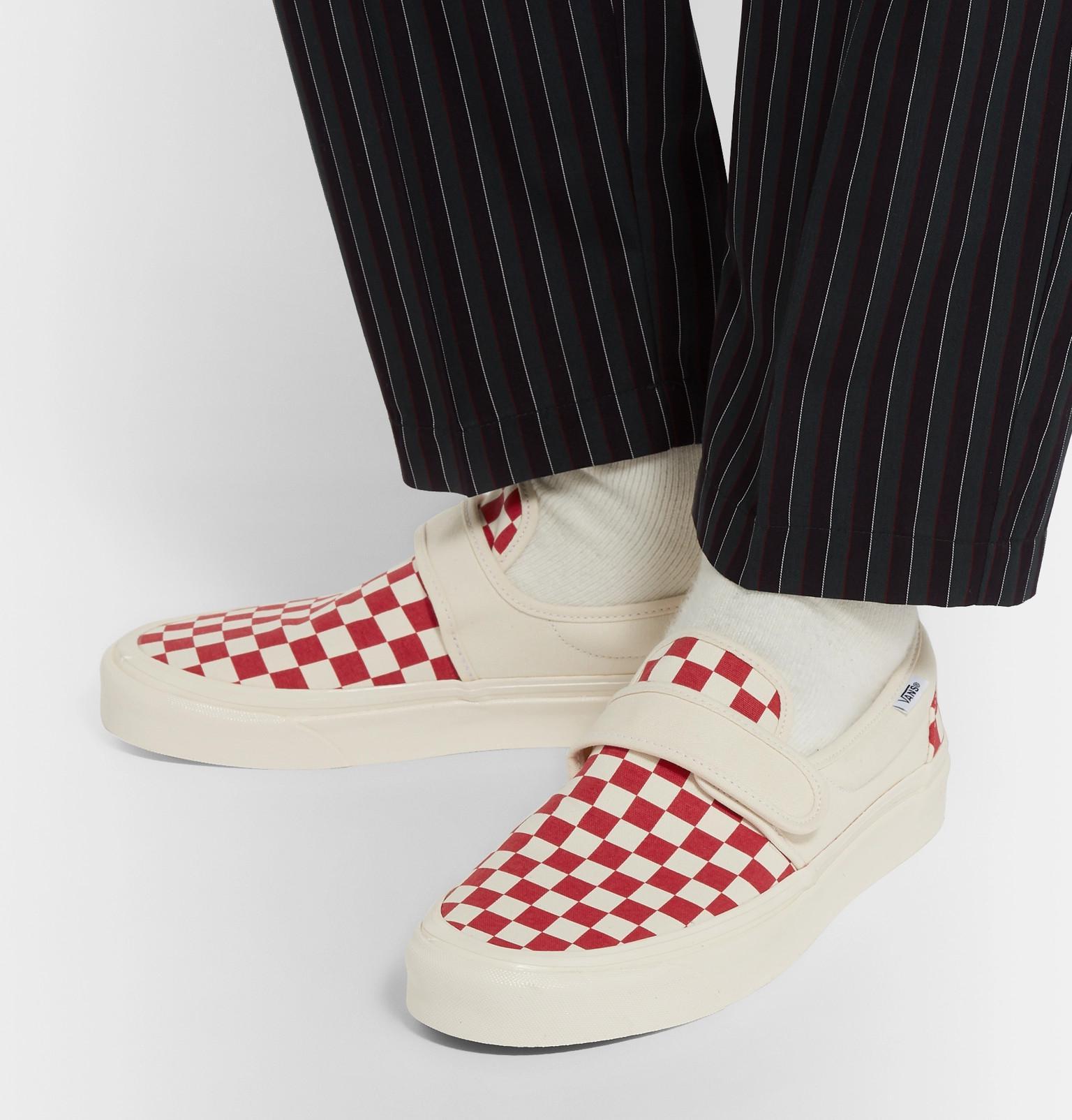 Nowa kolekcja sklep internetowy Hurt Anaheim Factory 47 V Dx Checkerboard Canvas Sneakers