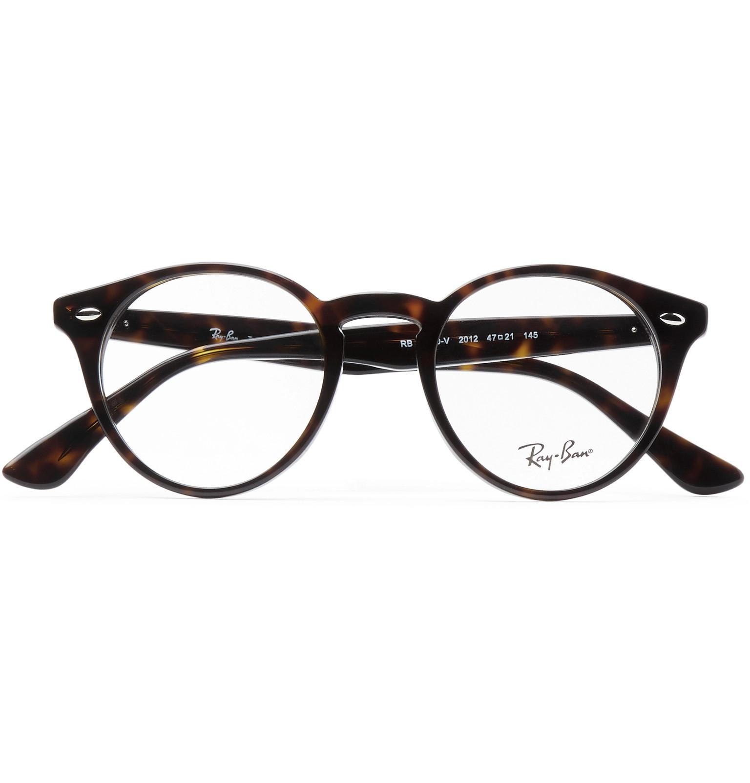 dd022b44b4 ... authentic ray ban round frame tortoiseshell acetate optical glasses for men  lyst de657 e3c2b
