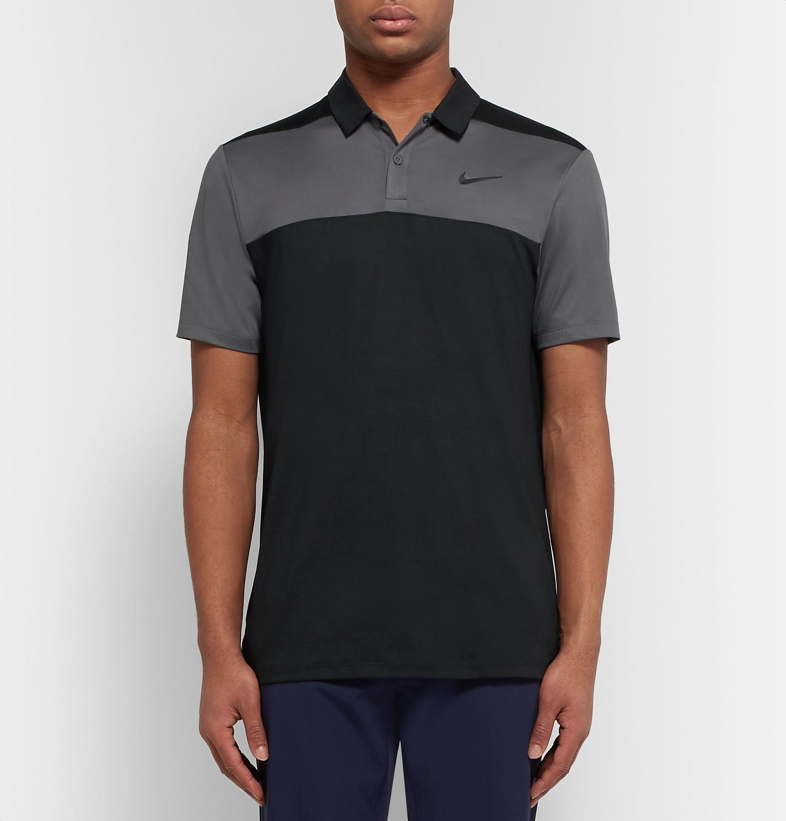 37ab2c8d Nike Two-tone Dri-fit Golf Polo Shirt in Gray for Men - Lyst