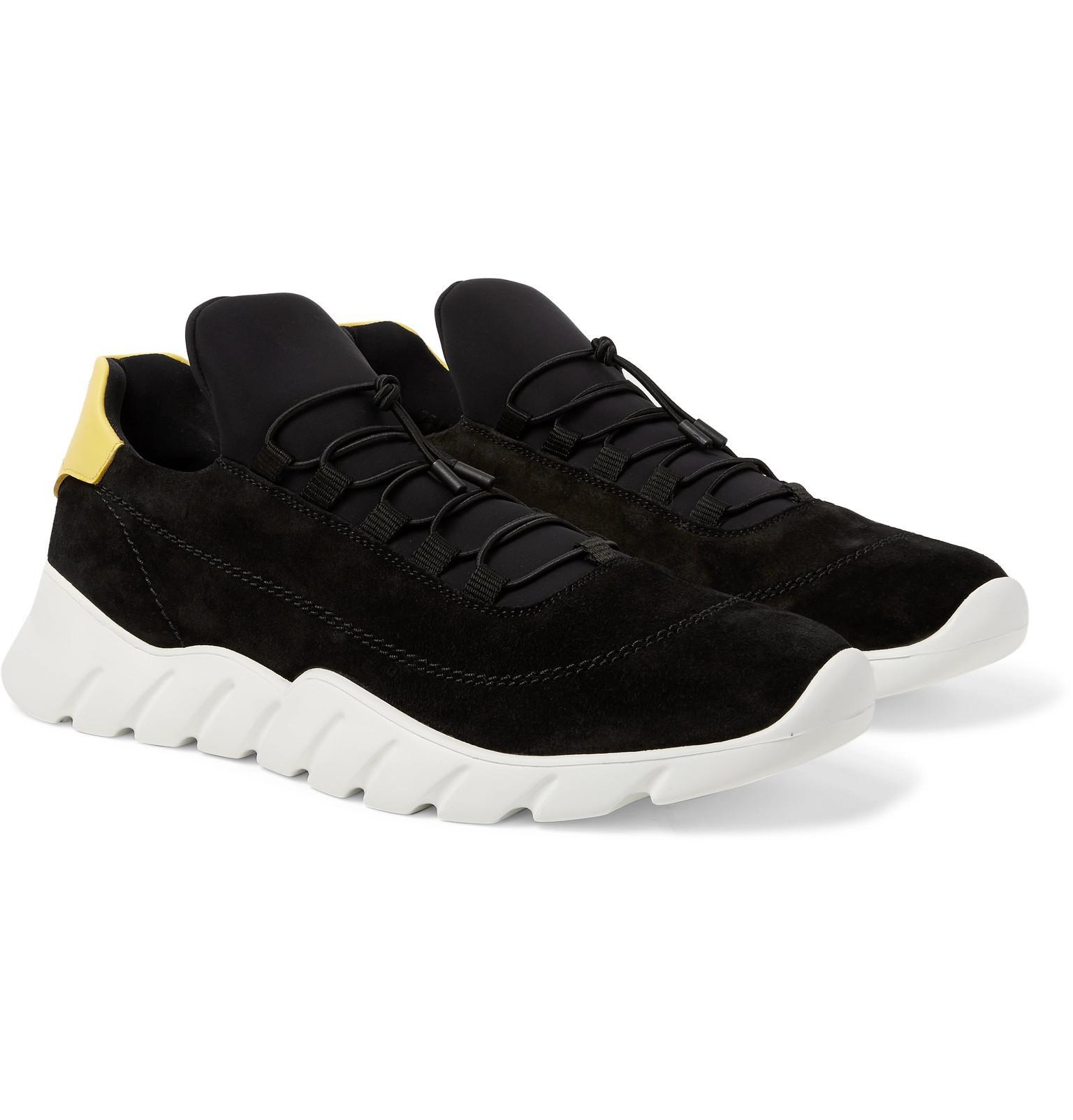 Fendi Suede And Neoprene Sneakers in