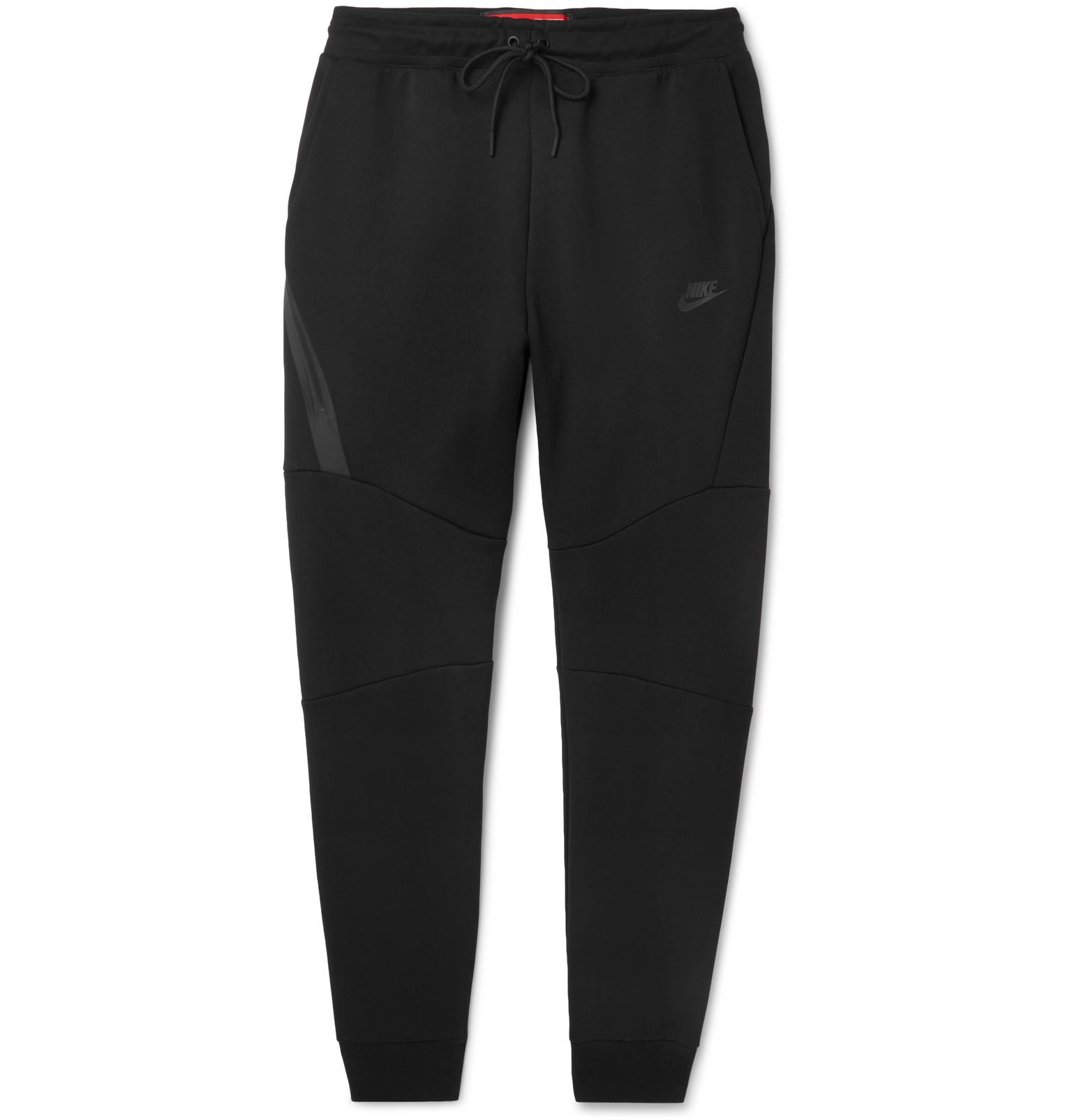 Nike Slim-fit Tapered Cotton-blend Tech Fleece Sweatpants - Petrol TwP0zMwgD