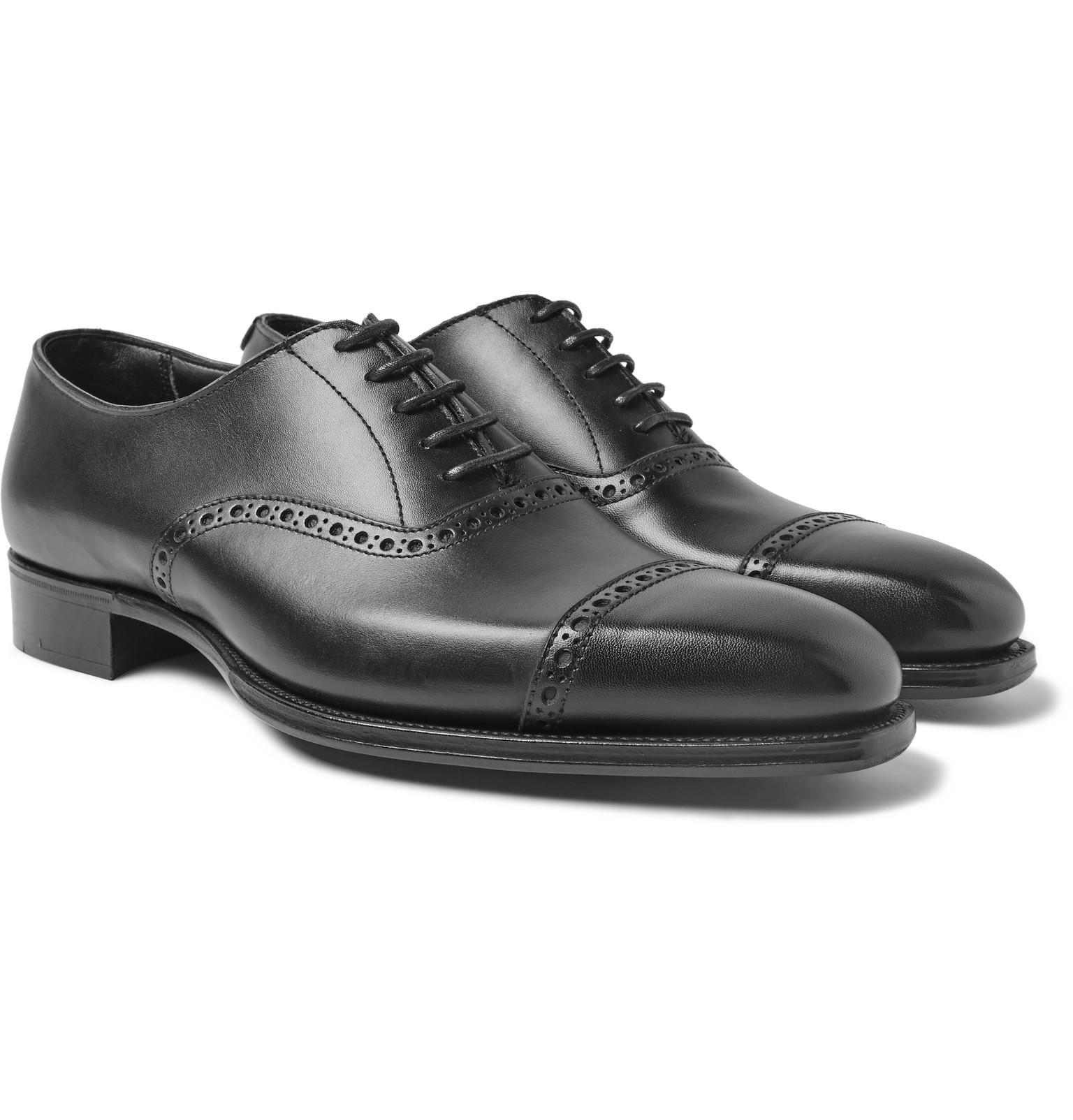 Adam Pebble-grain Leather Oxford Brogues - BlackGeorge Cleverley D4F3W4vj